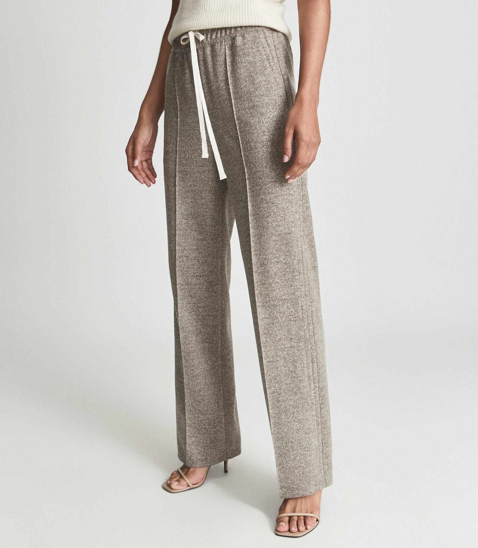 JOEY - TEXTURED WIDE LEG TROUSERS 2