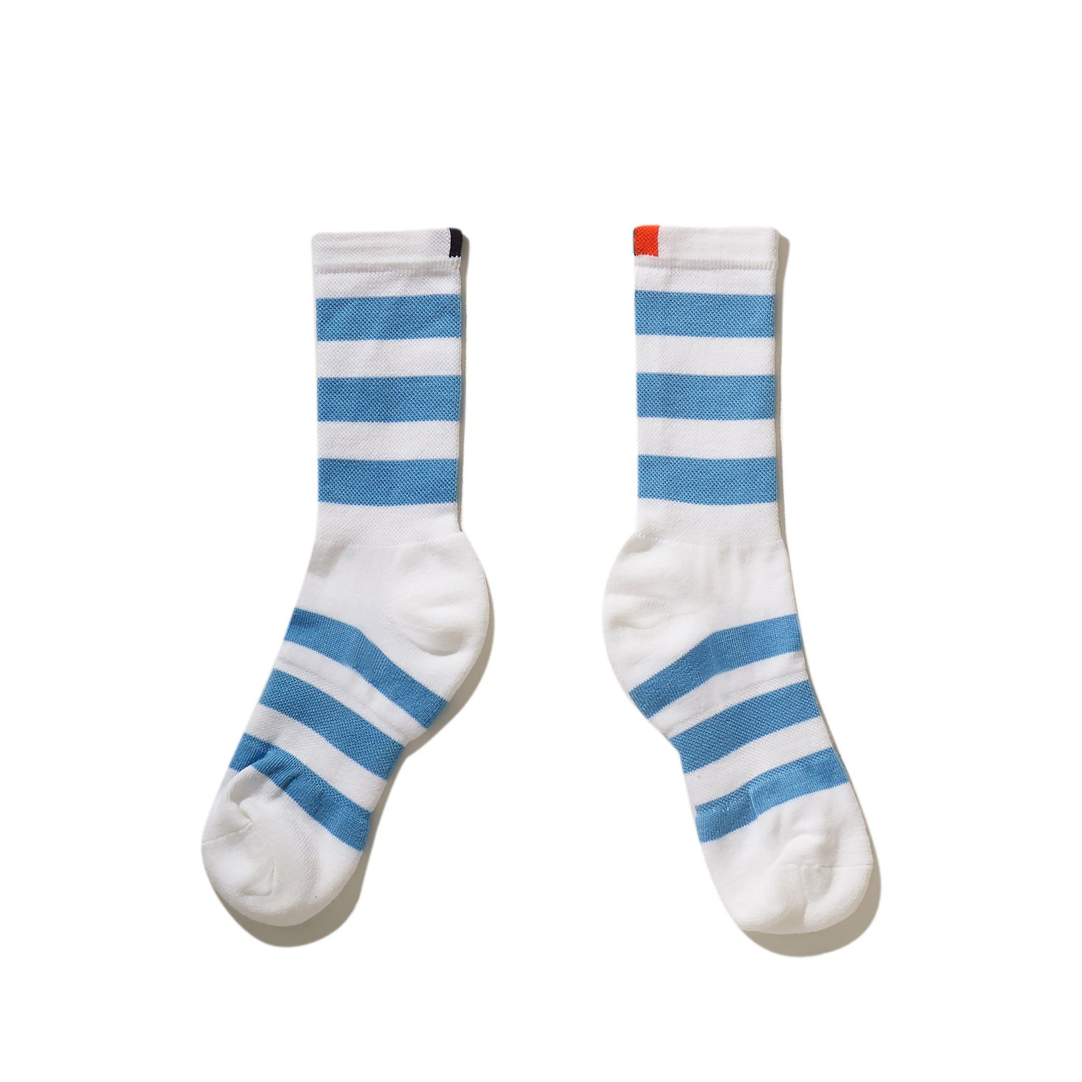 The Women's Rugby Sock - White/Blue