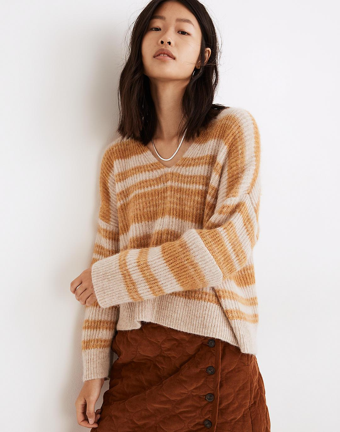 Space-Dyed Staley V-Neck Pullover Sweater