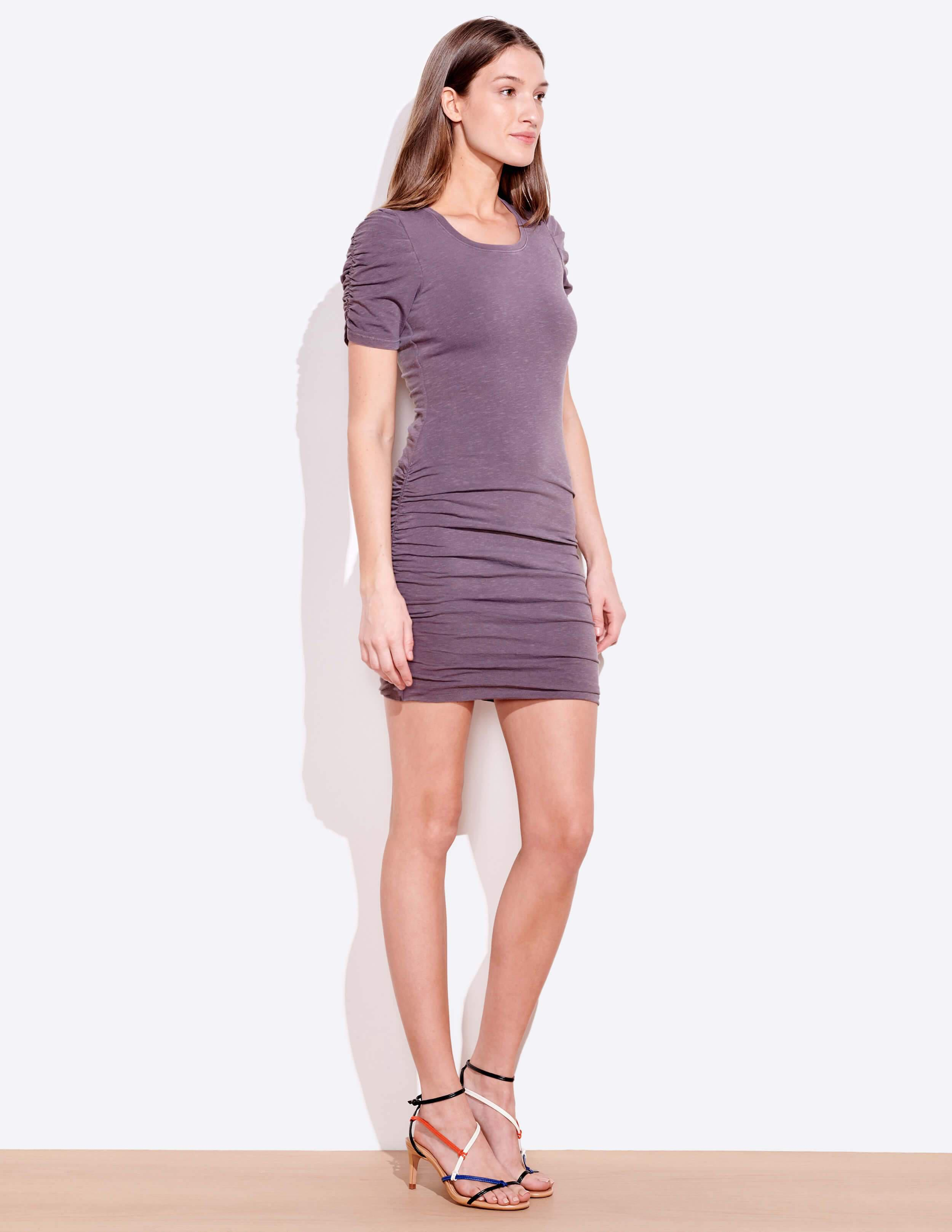 Puff Sleeve Ruched Dress 1