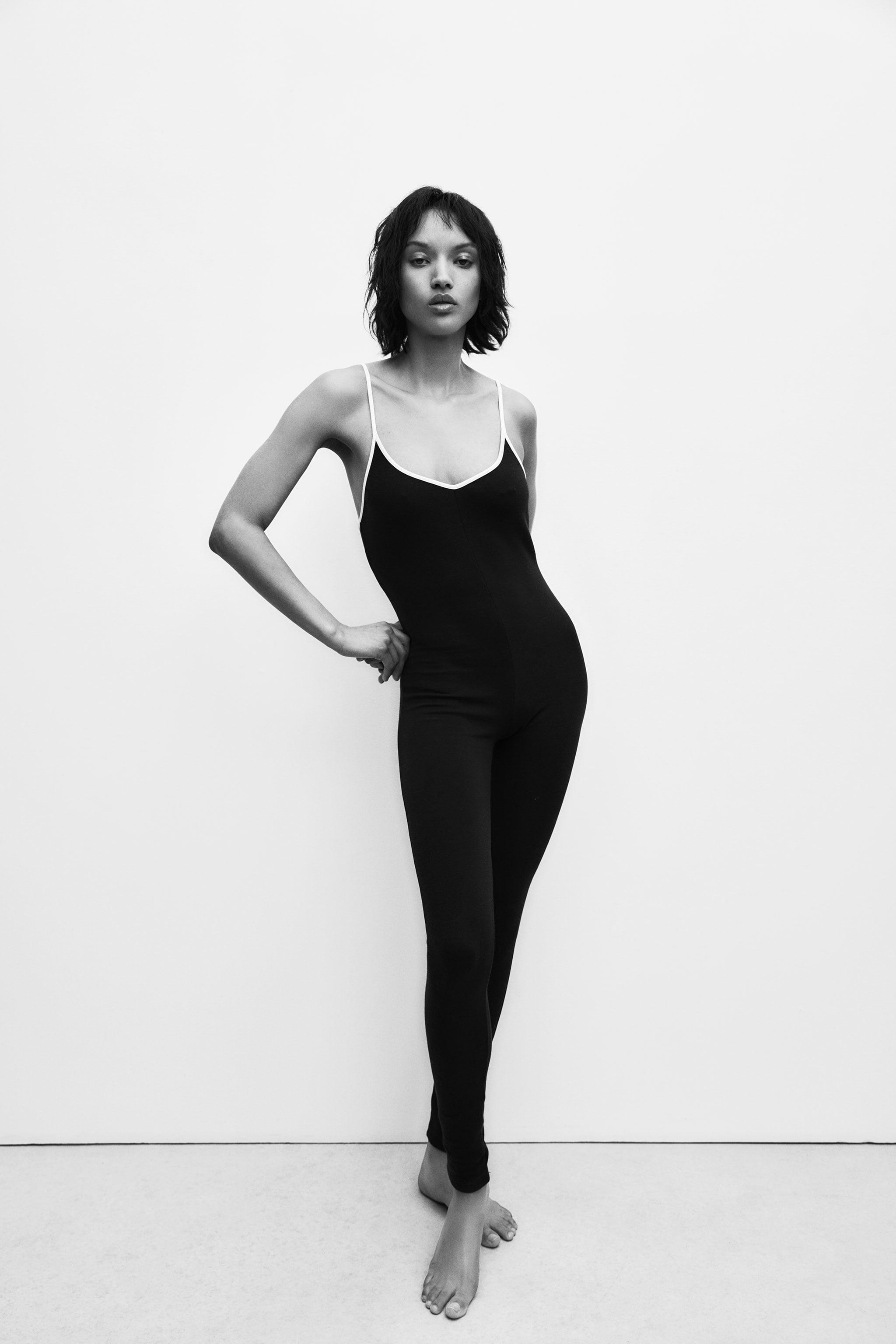 PIPED LONG JUMPSUIT