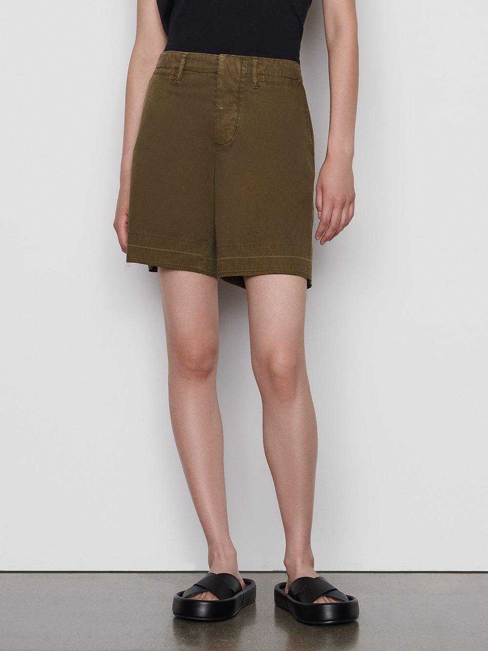 Le Tomboy Trouser Short -- Washed Moss