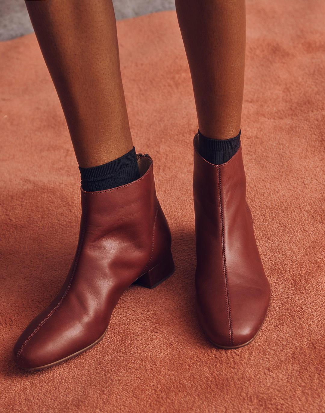 The Rena Ankle Boot in Leather 3
