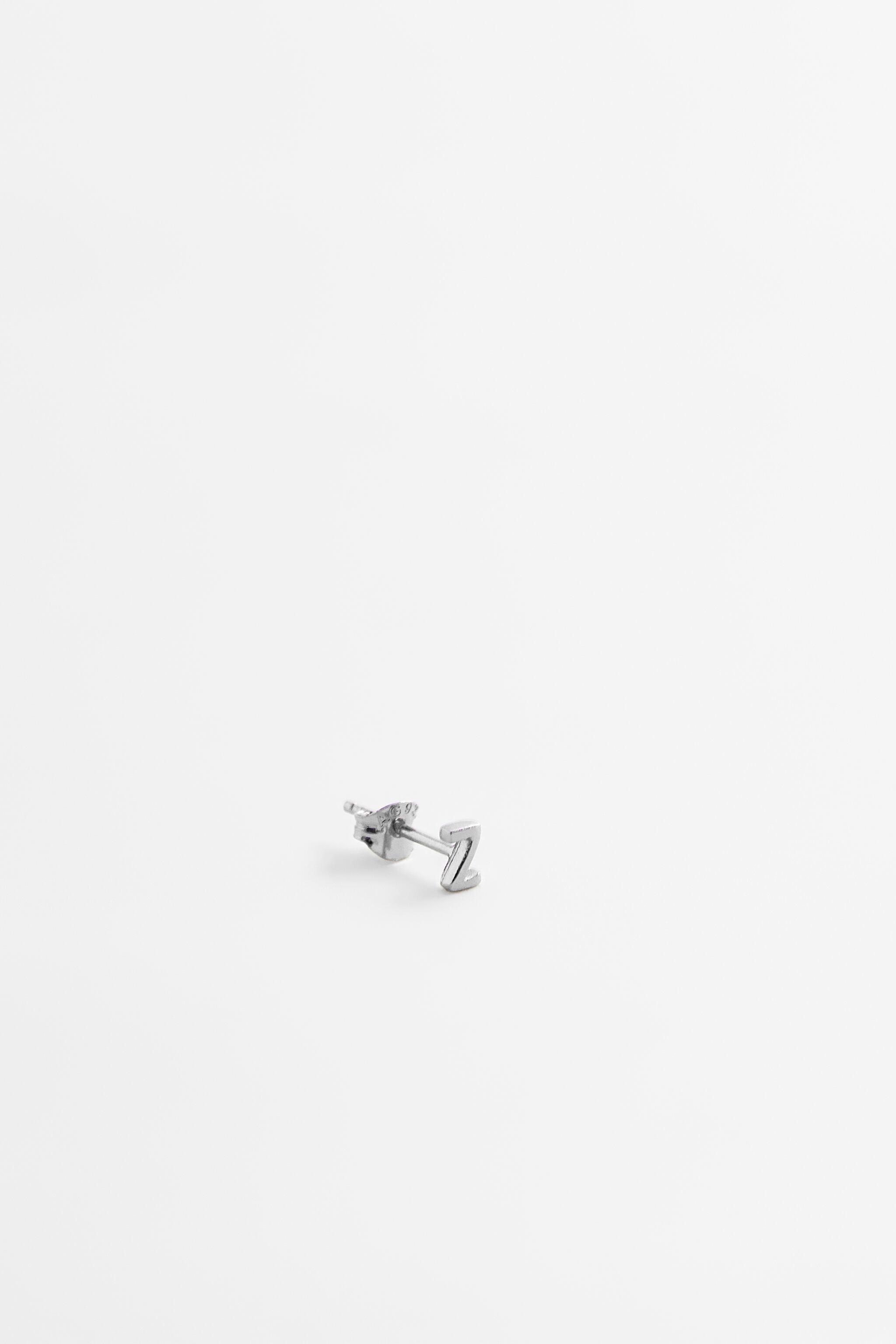 STERLING SILVER INITIAL EARRING