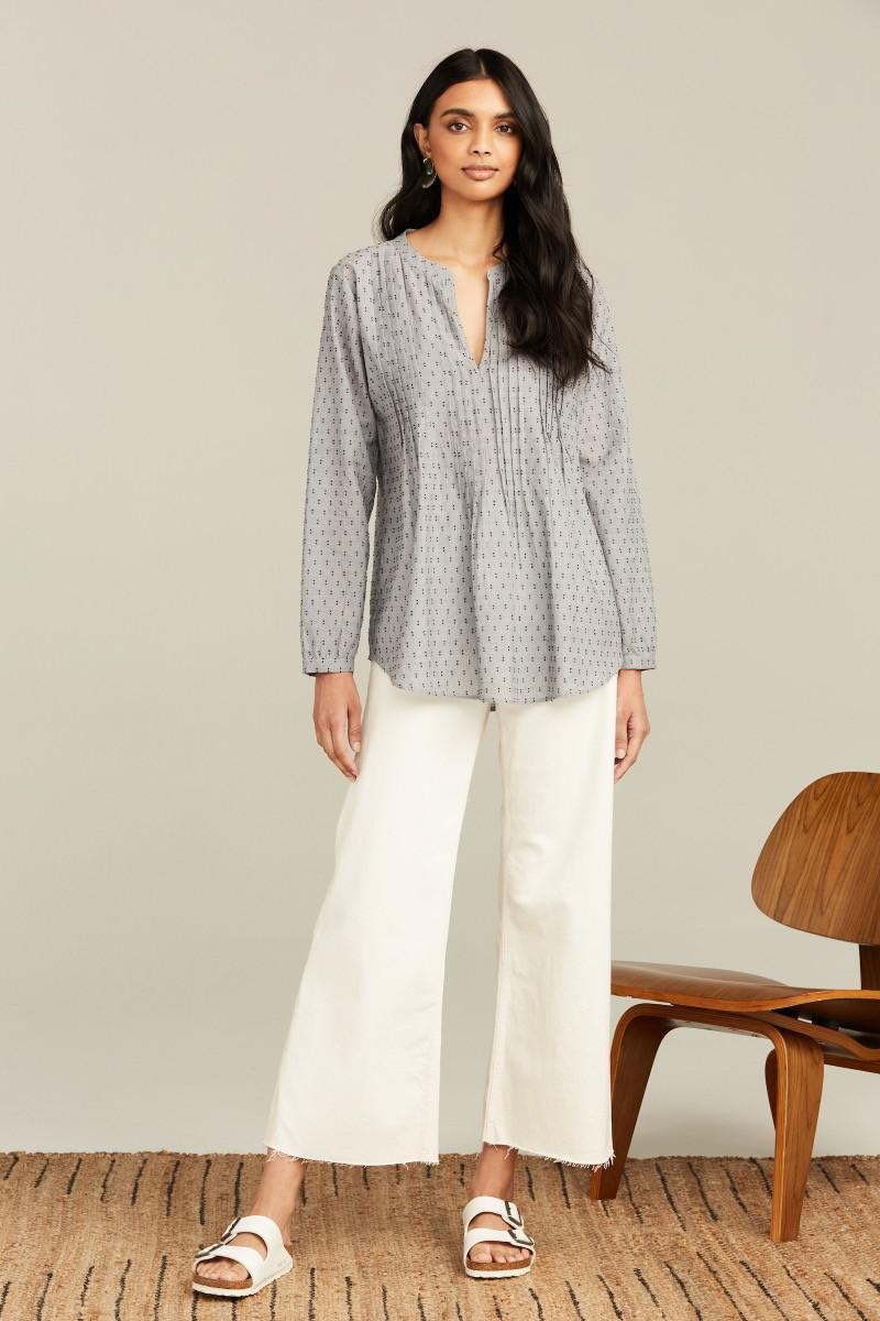 CHAMBRAY FIL COUPE WEI TOP 1