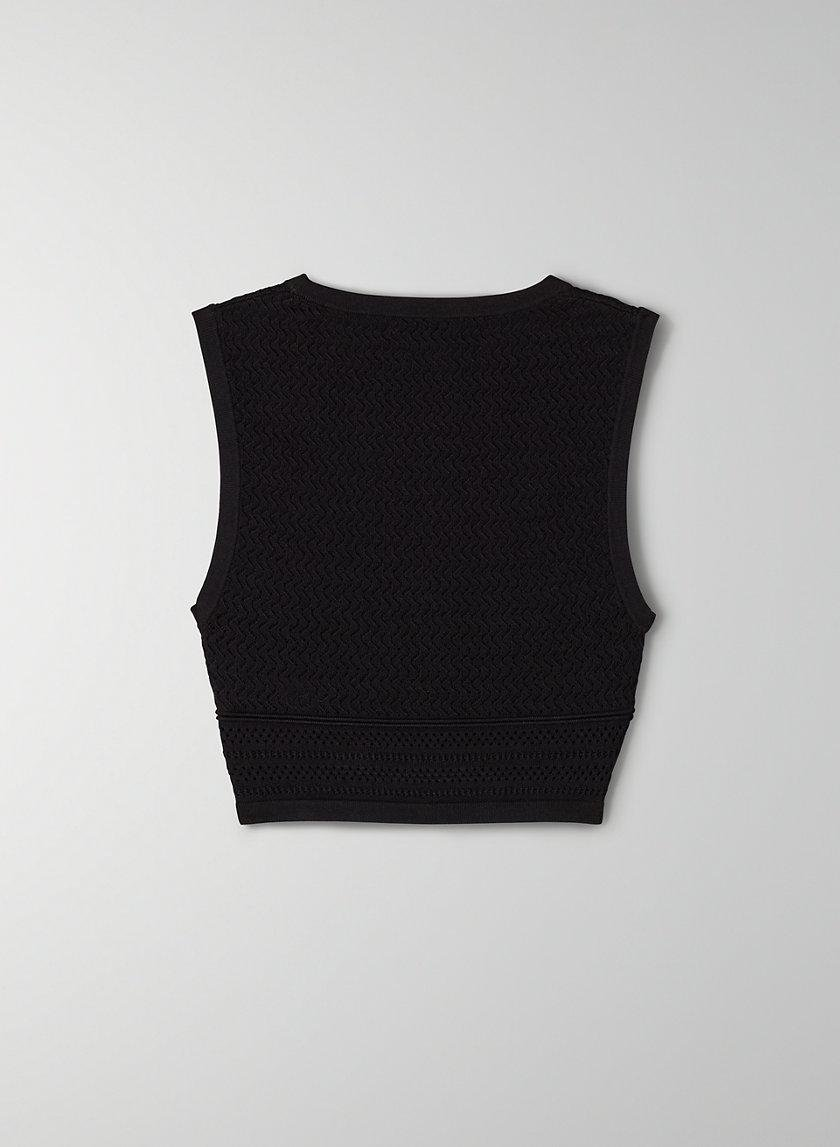 Pointelle Cropped Tank 6