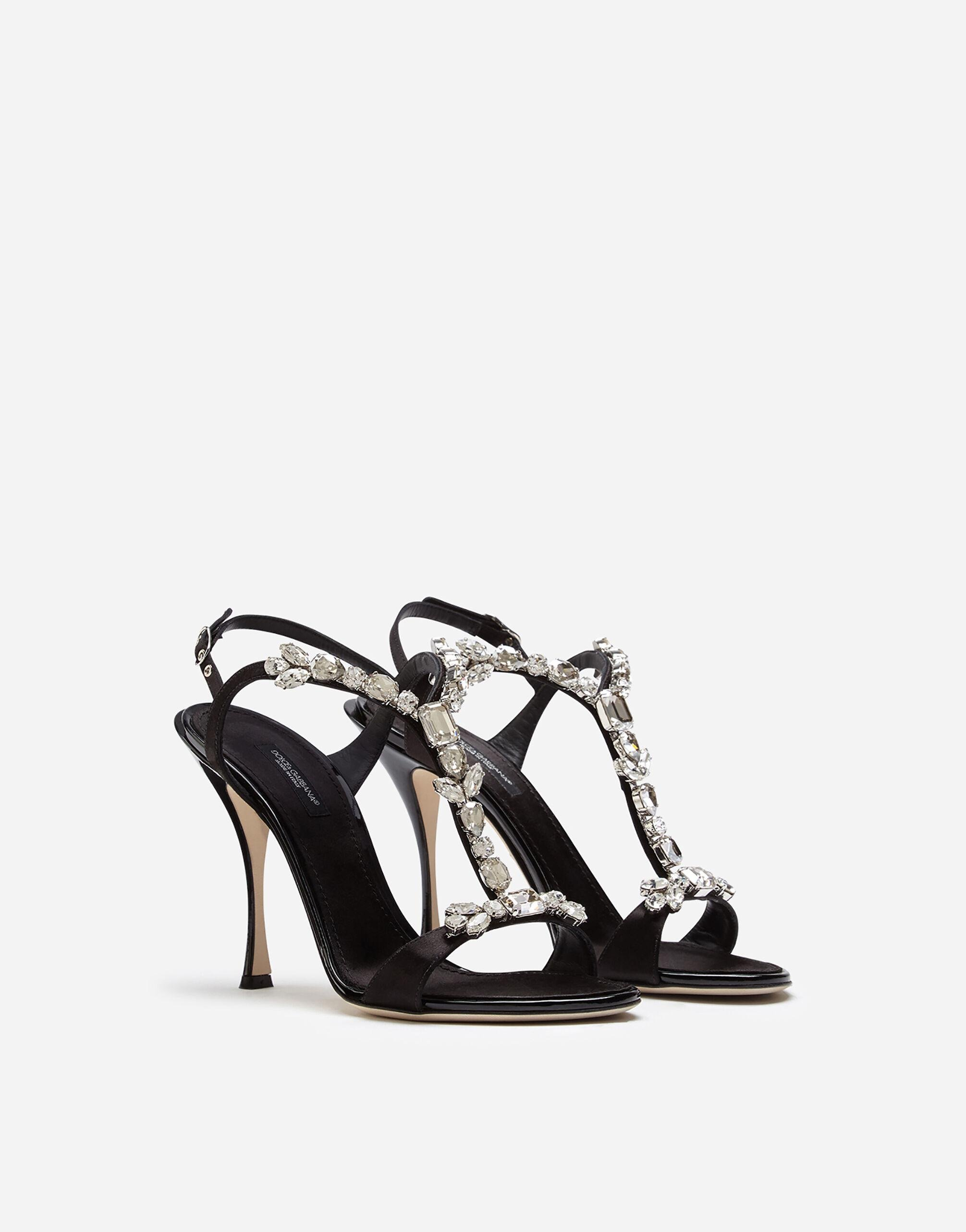 Satin sandals with embroidery 1