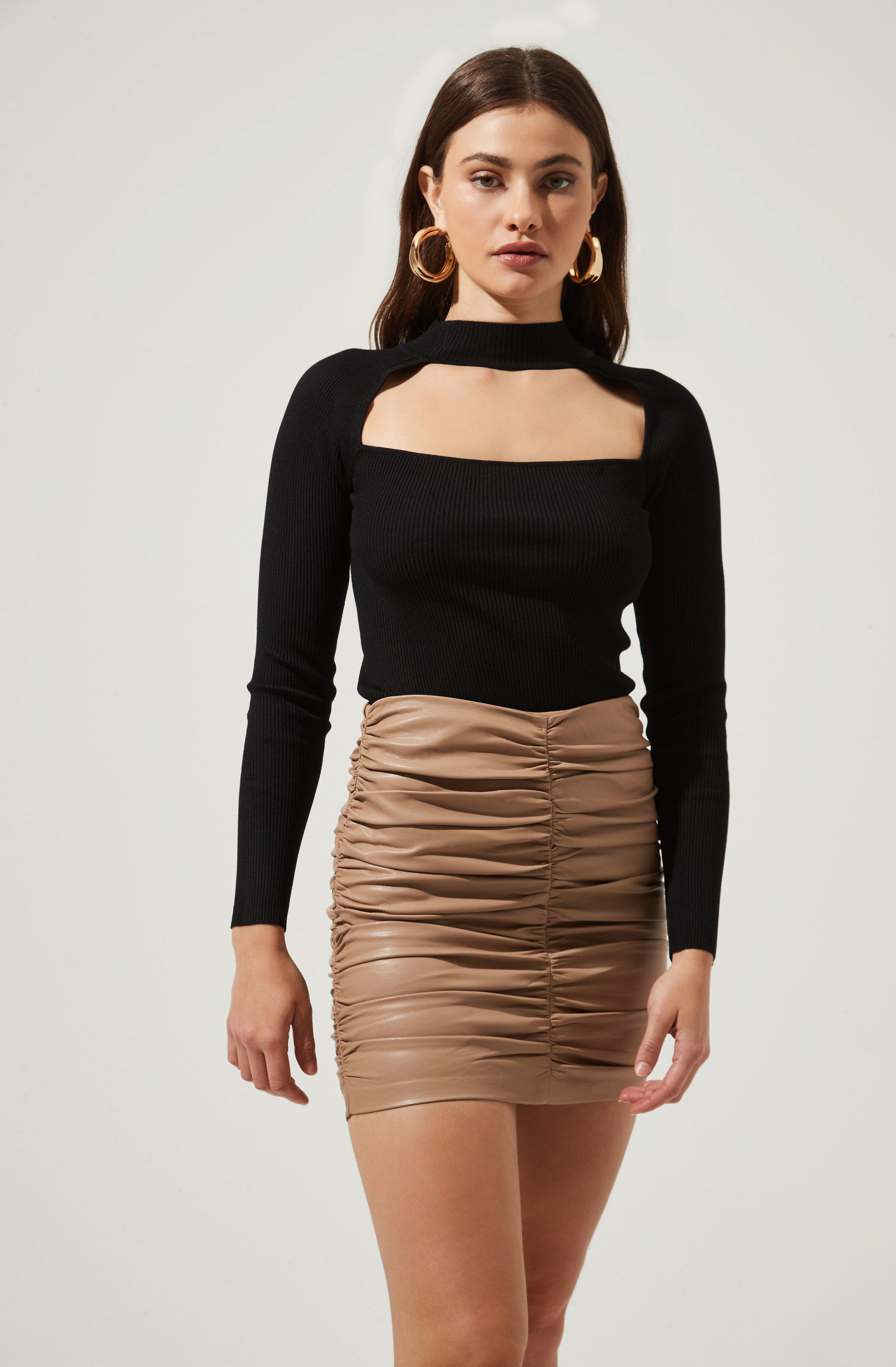 Cut Out Square-Neck Top