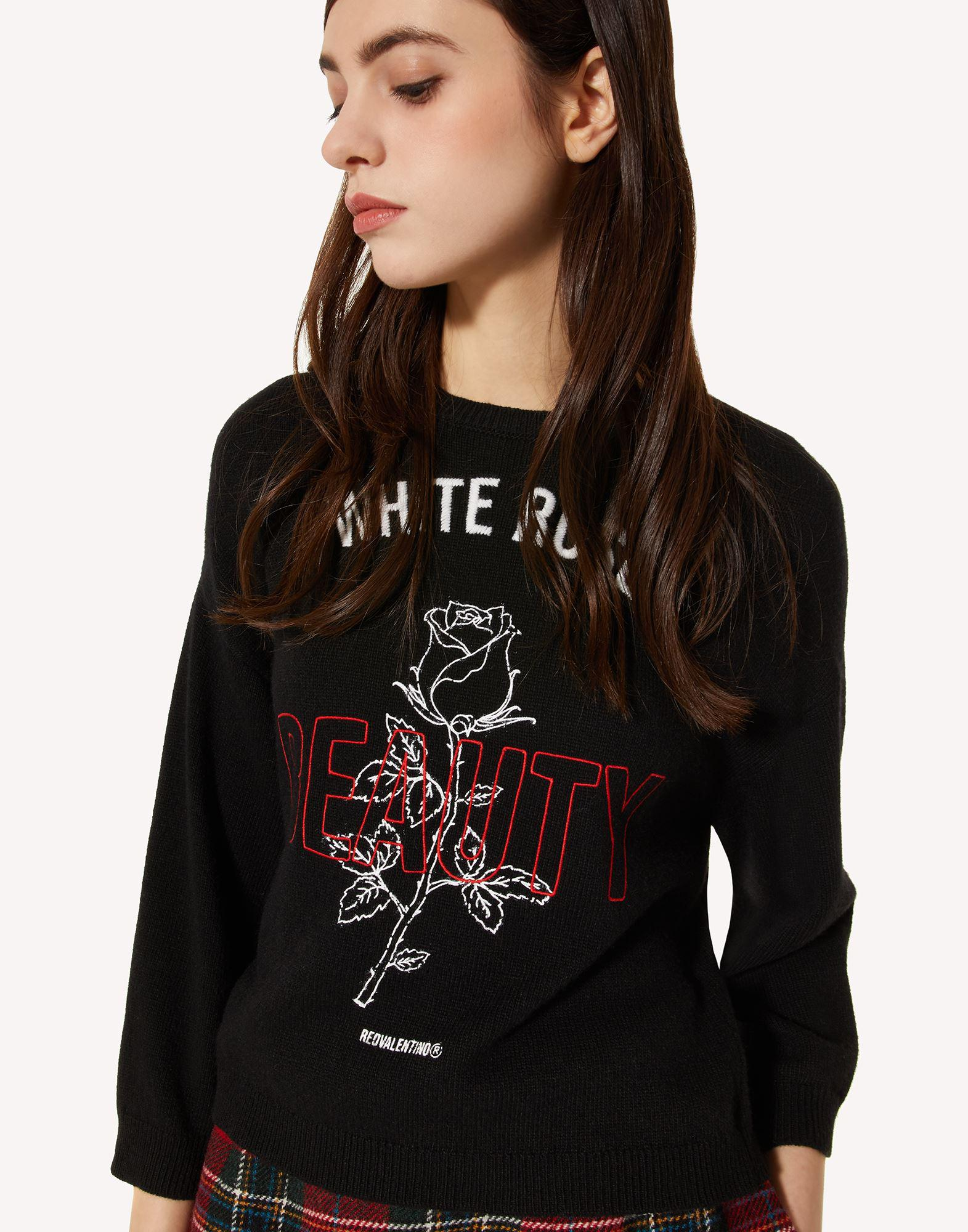 WOOL-BLEND SWEATER WITH ROSE EMBROIDERY 3