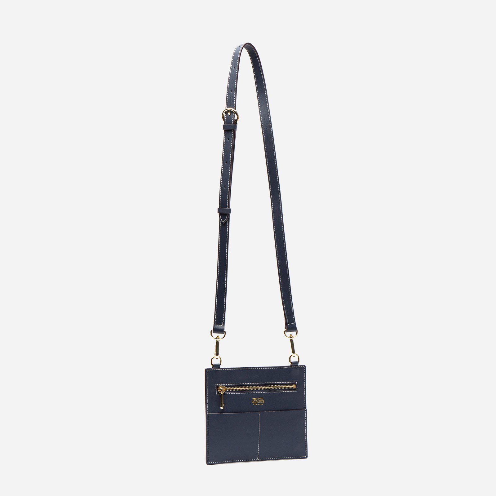 Small Chloe Tumbled Leather Navy 2