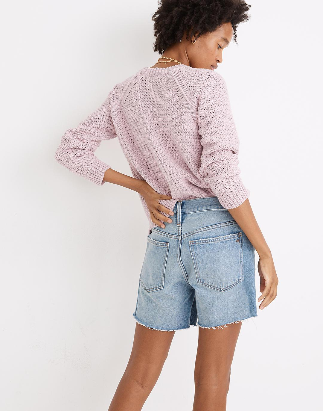 Relaxed Mid-Length Denim Shorts in Scottsburg Wash 1