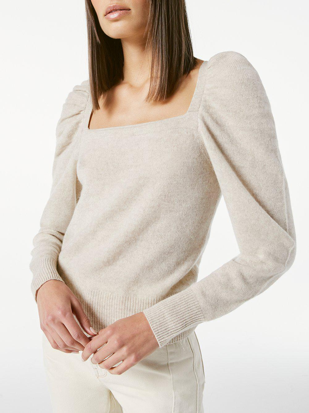 Femme Square Neck Sweater -- Oatmeal Heather