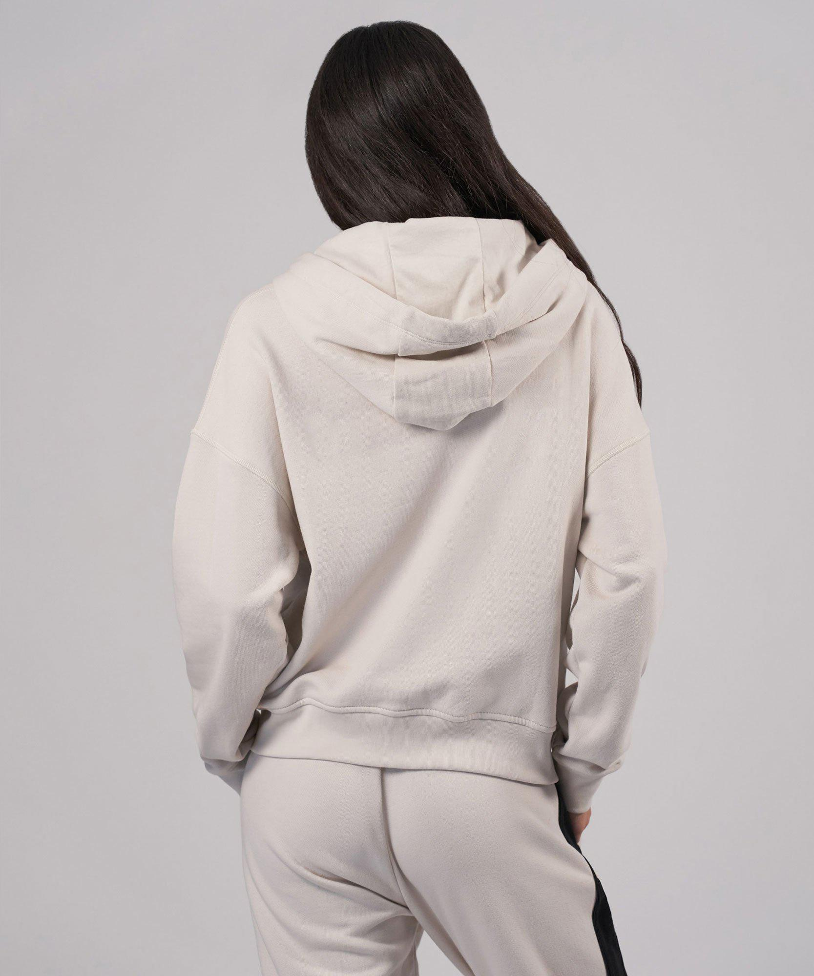 French Terry Pullover Hoodie - Tan Combo 2