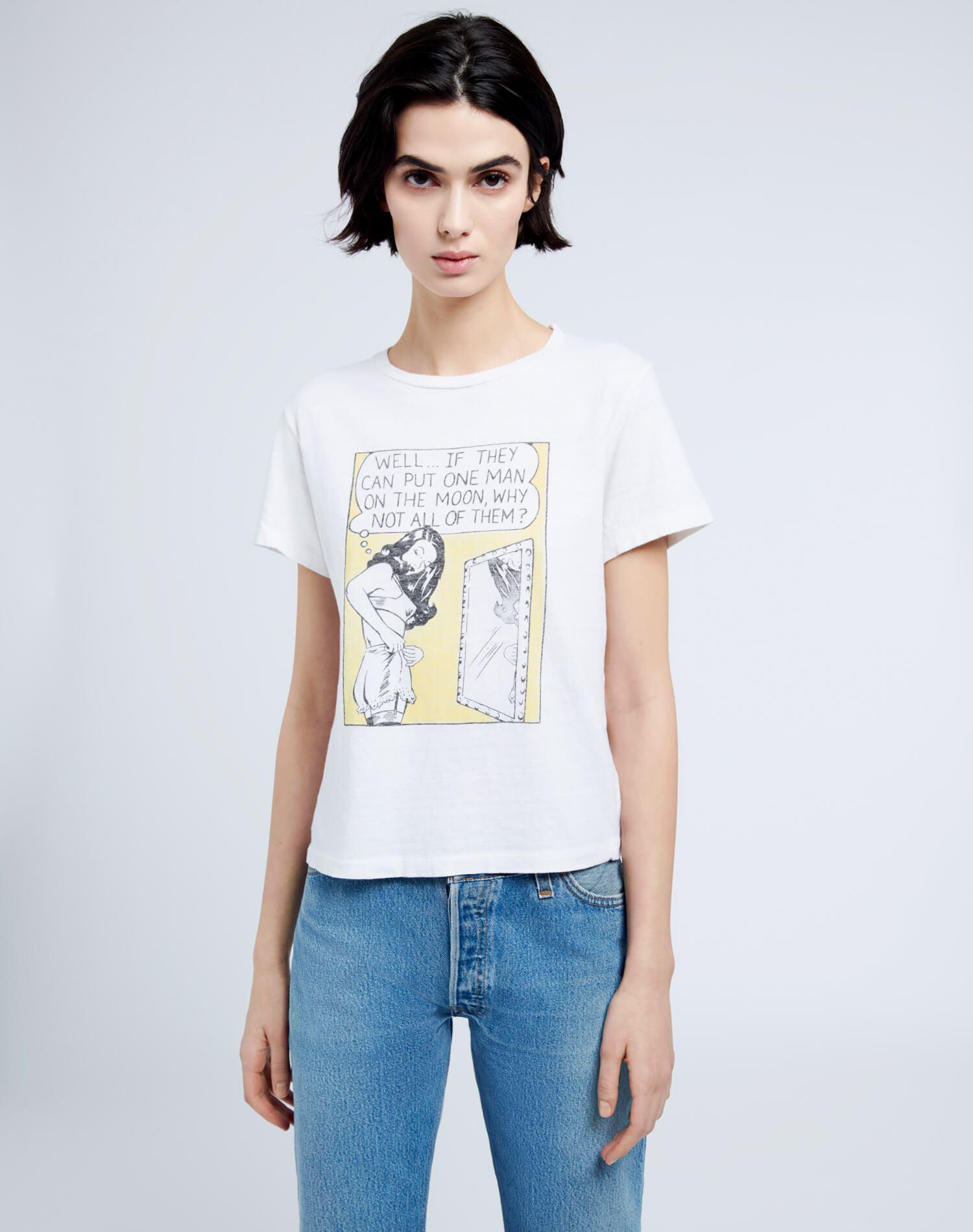 """Classic """"Man on the Moon"""" Tee - Vintage White"""