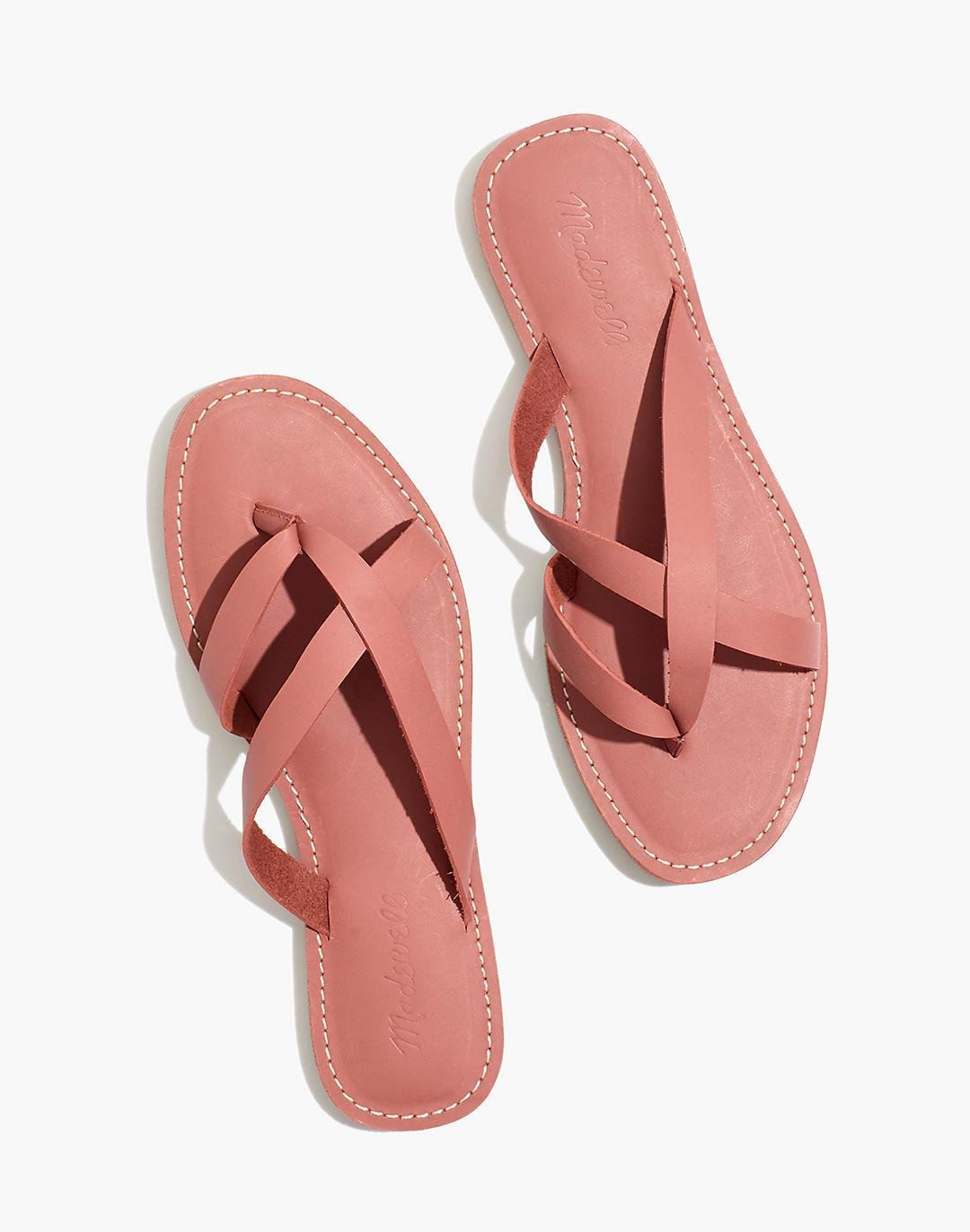 The Boardwalk Thong Sandal in Leather