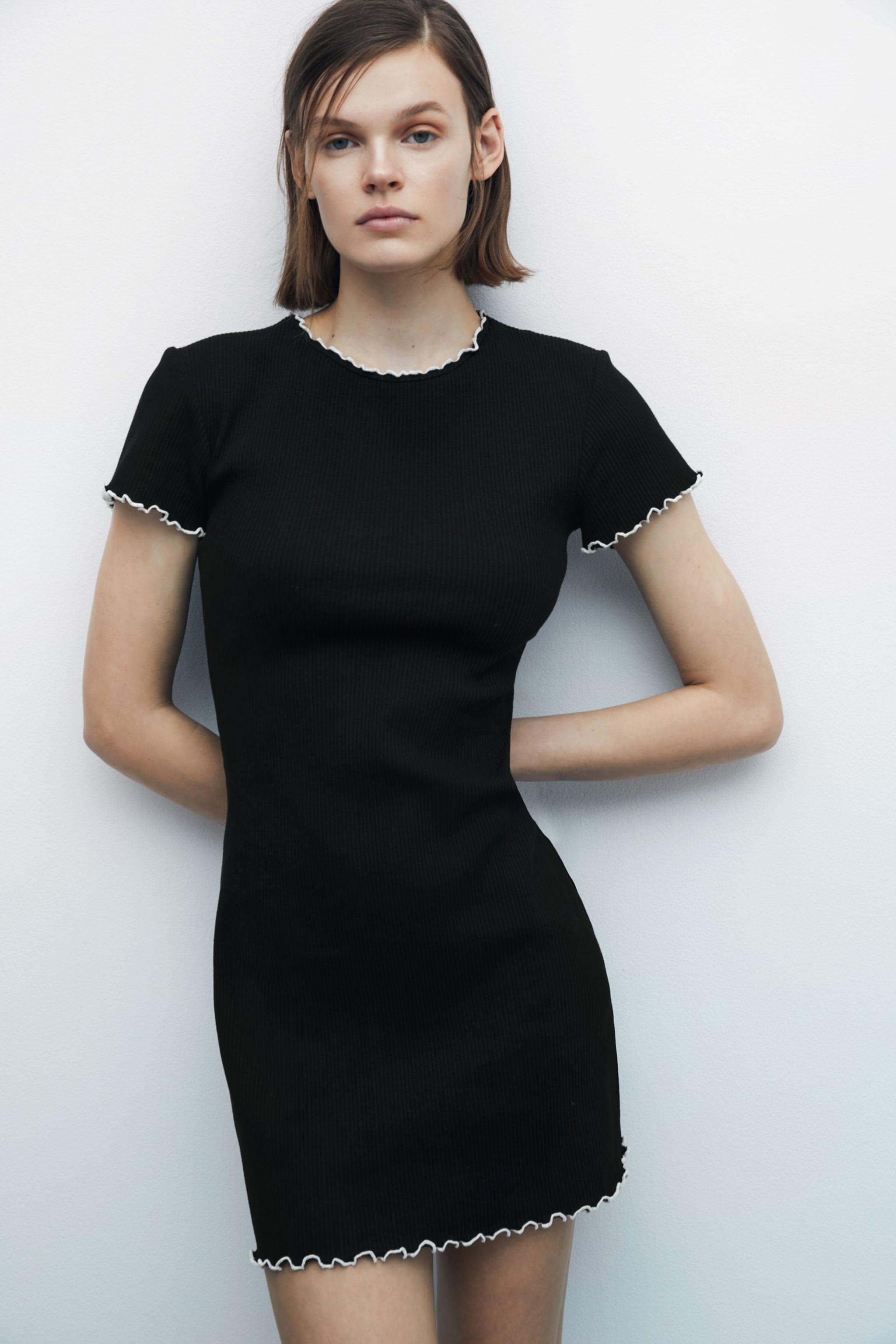 CONTRAST FITTED DRESS