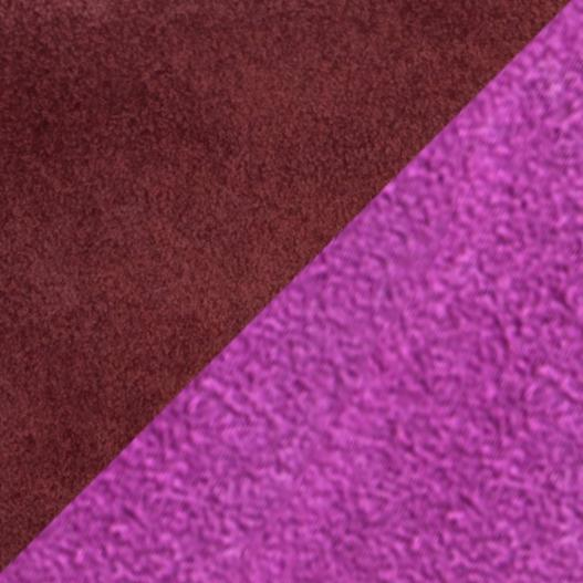 Bougie Fuchsia and Dark Brown Suede Leather 7