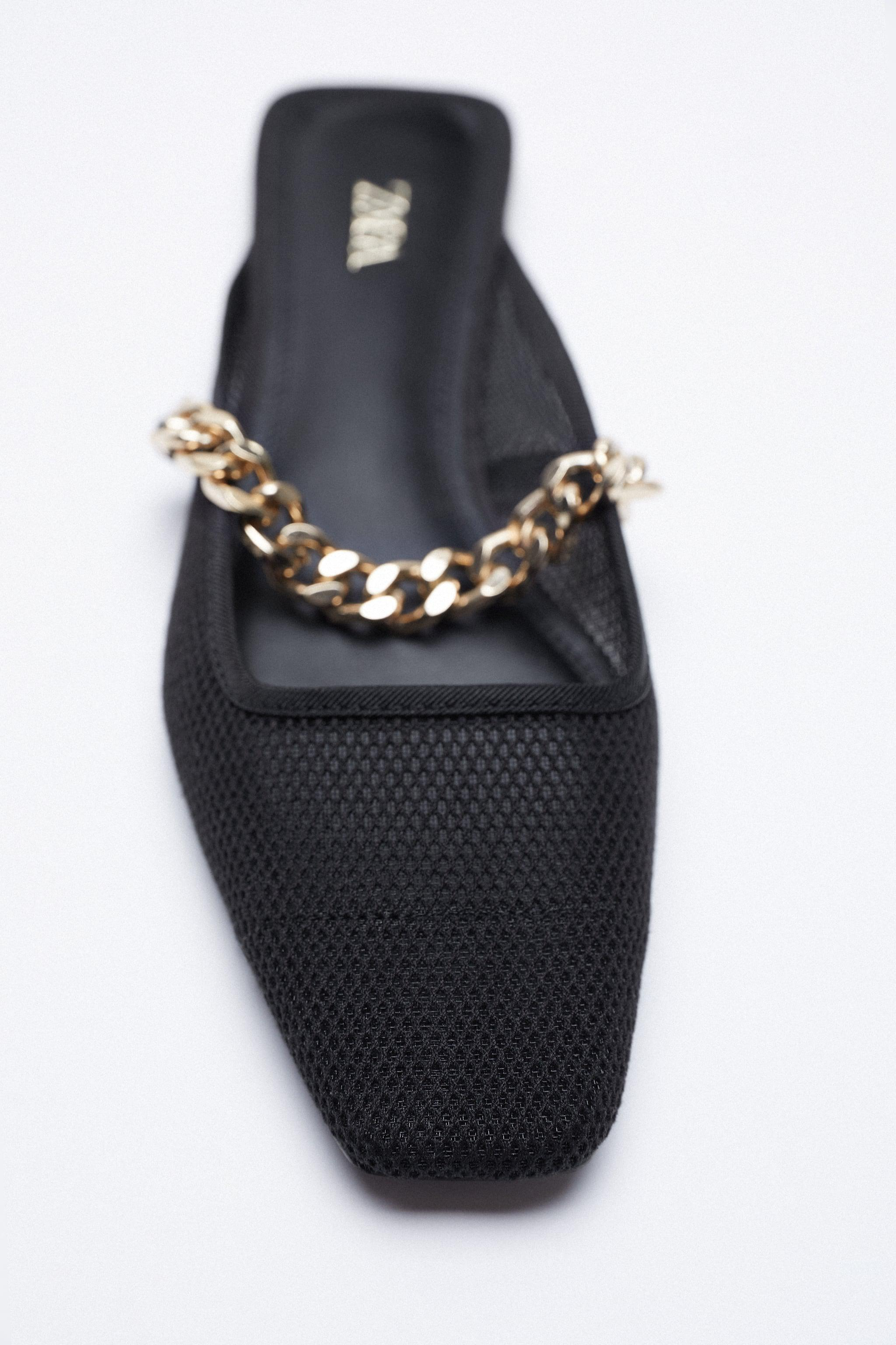 MESH SLIDE SHOES WITH CHAIN 3