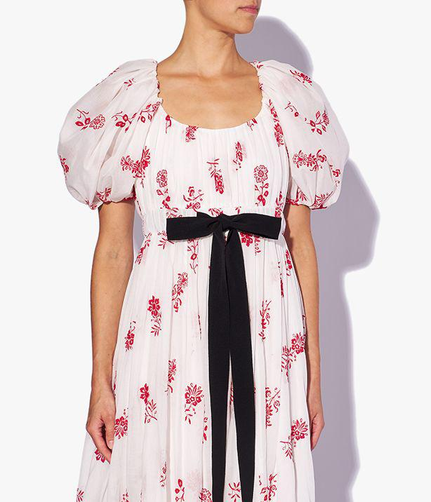Clarimond Gown Floral Embroidered Cotton Voile 2