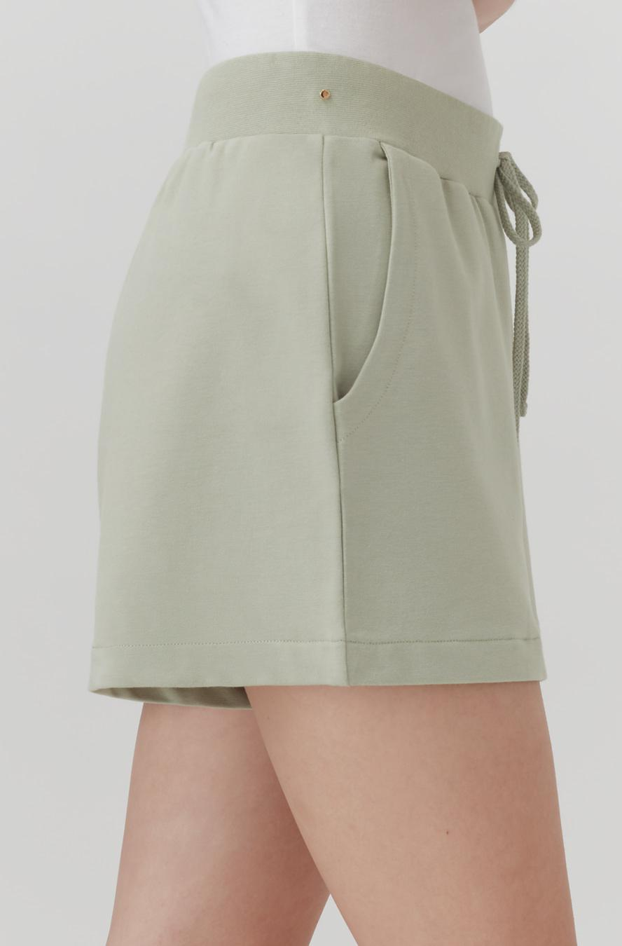 Women's French Terry Shorts in Sage | Size: 3