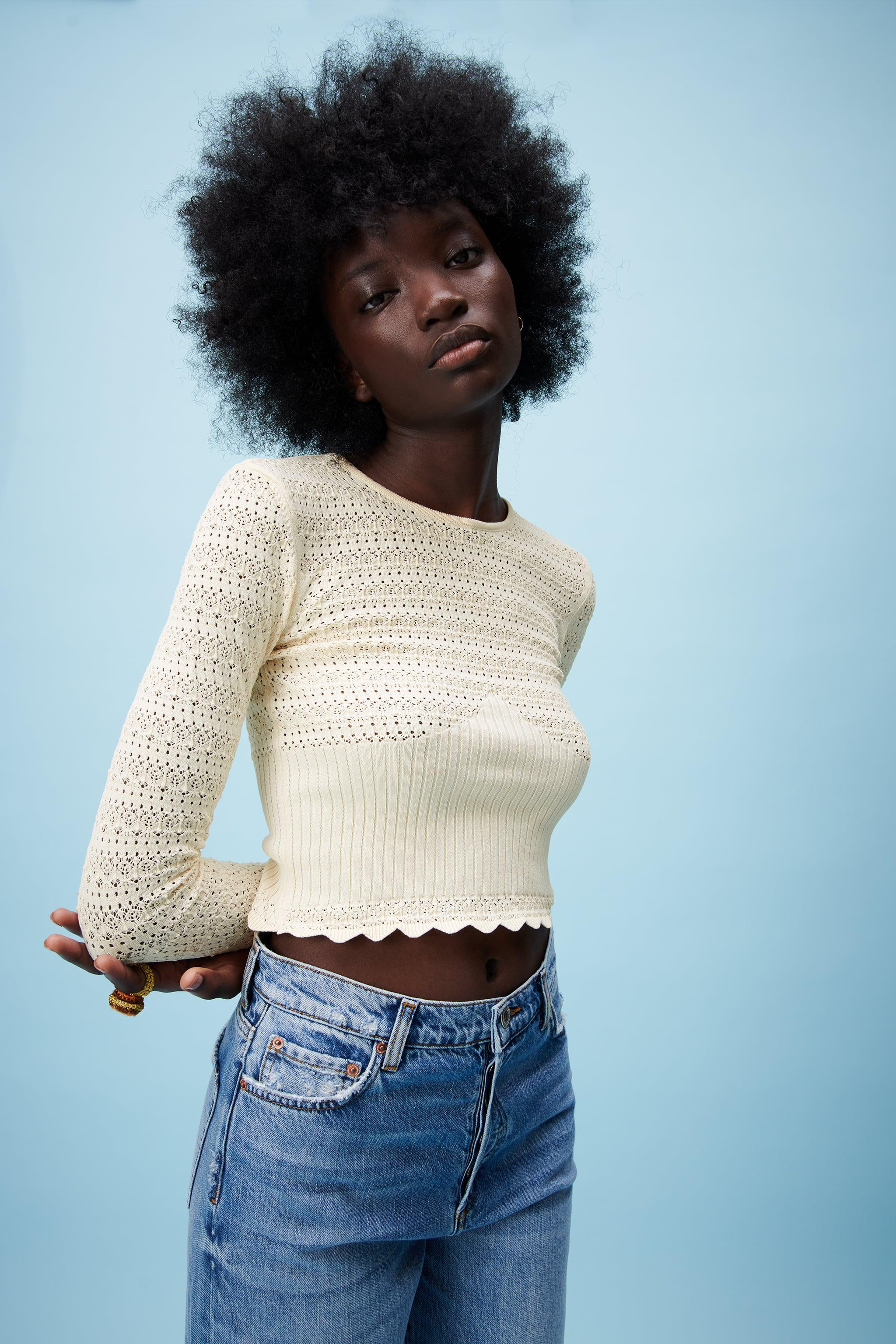 POINTELLE KNIT TOP 1