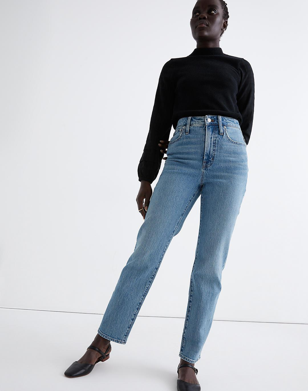 The Curvy Perfect Vintage Straight Jean in Hoye Wash