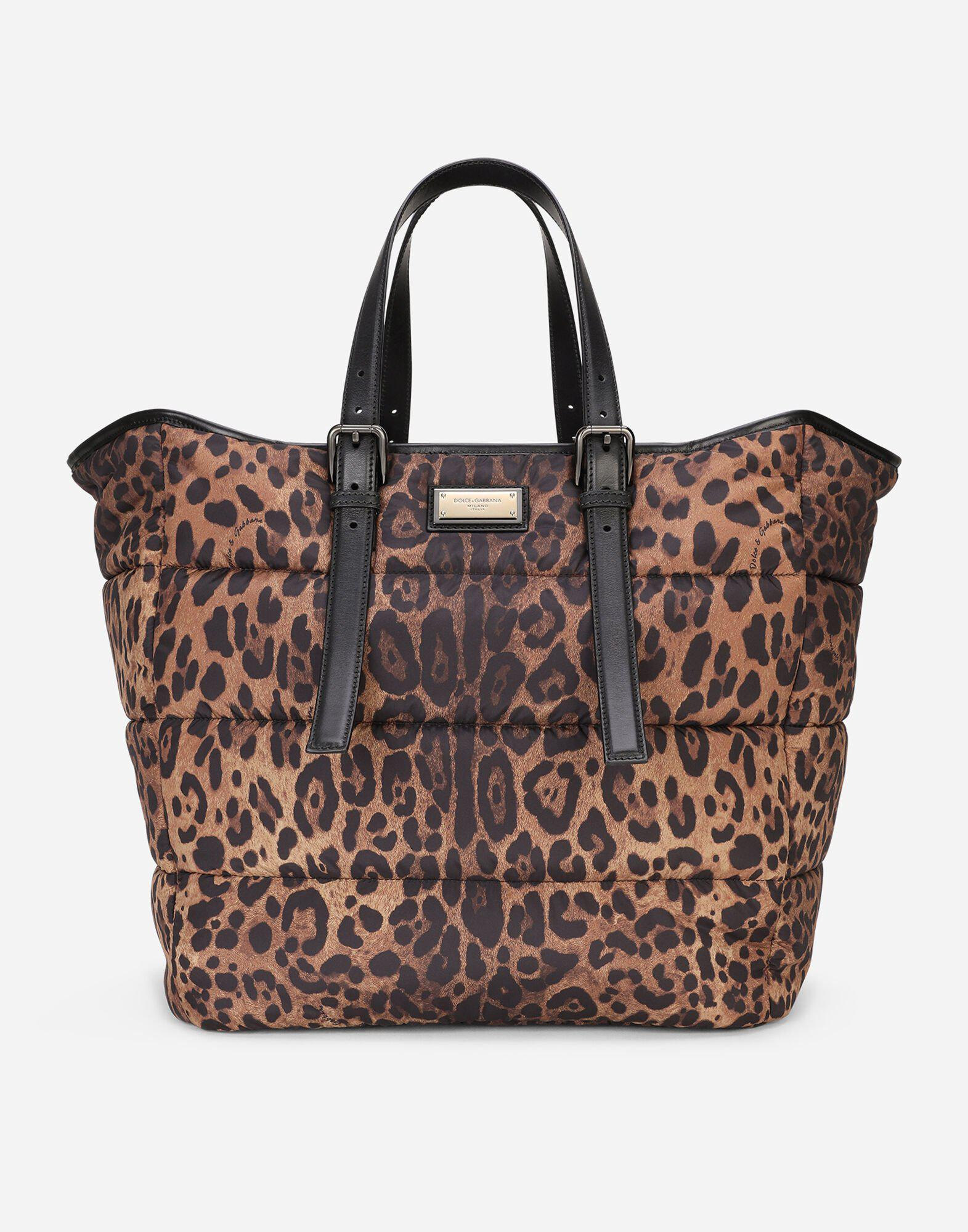 Leopard-print Sicily shopper in quilted nylon