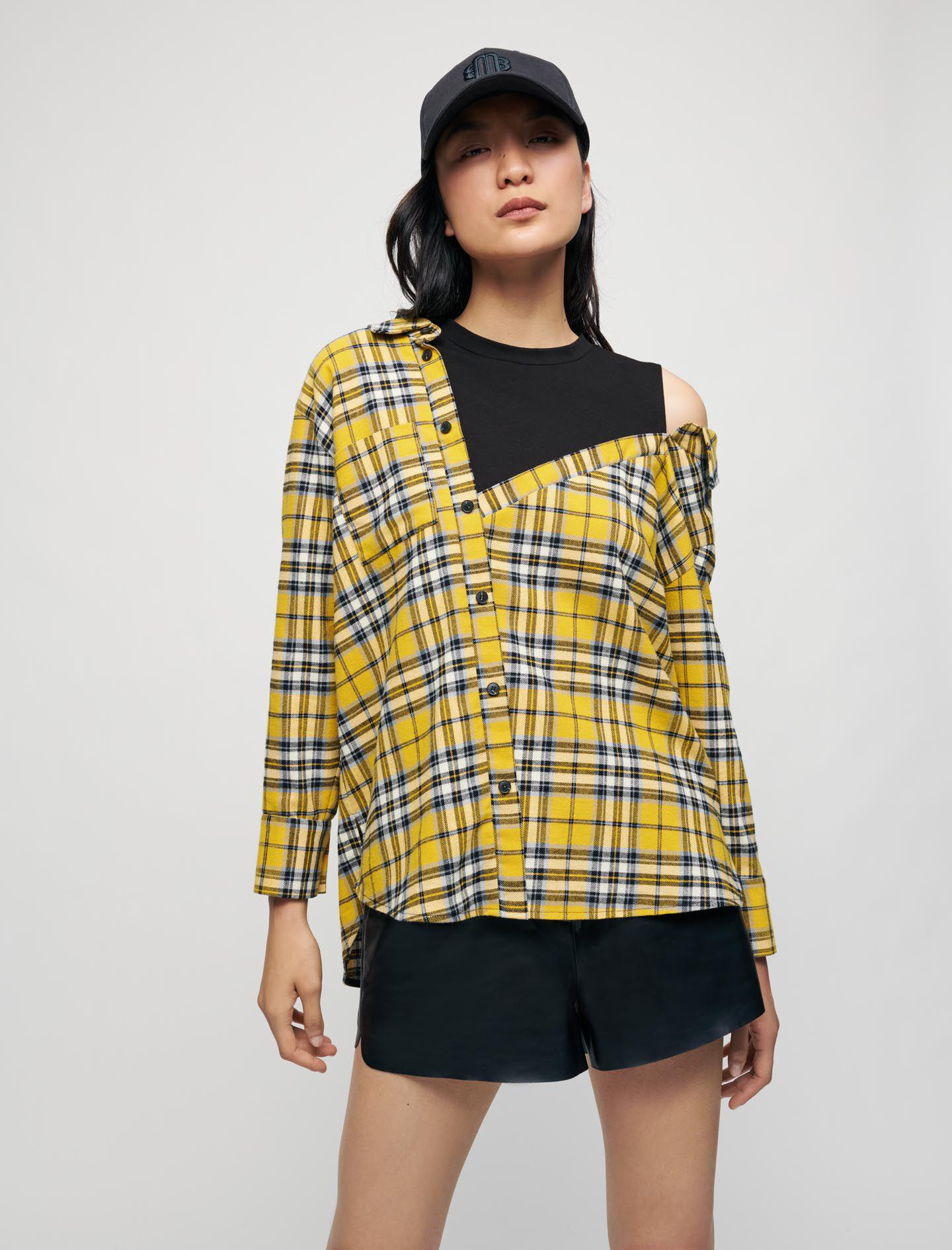 TROMPE L'OEIL CHECKED SHIRT AND T-SHIRT