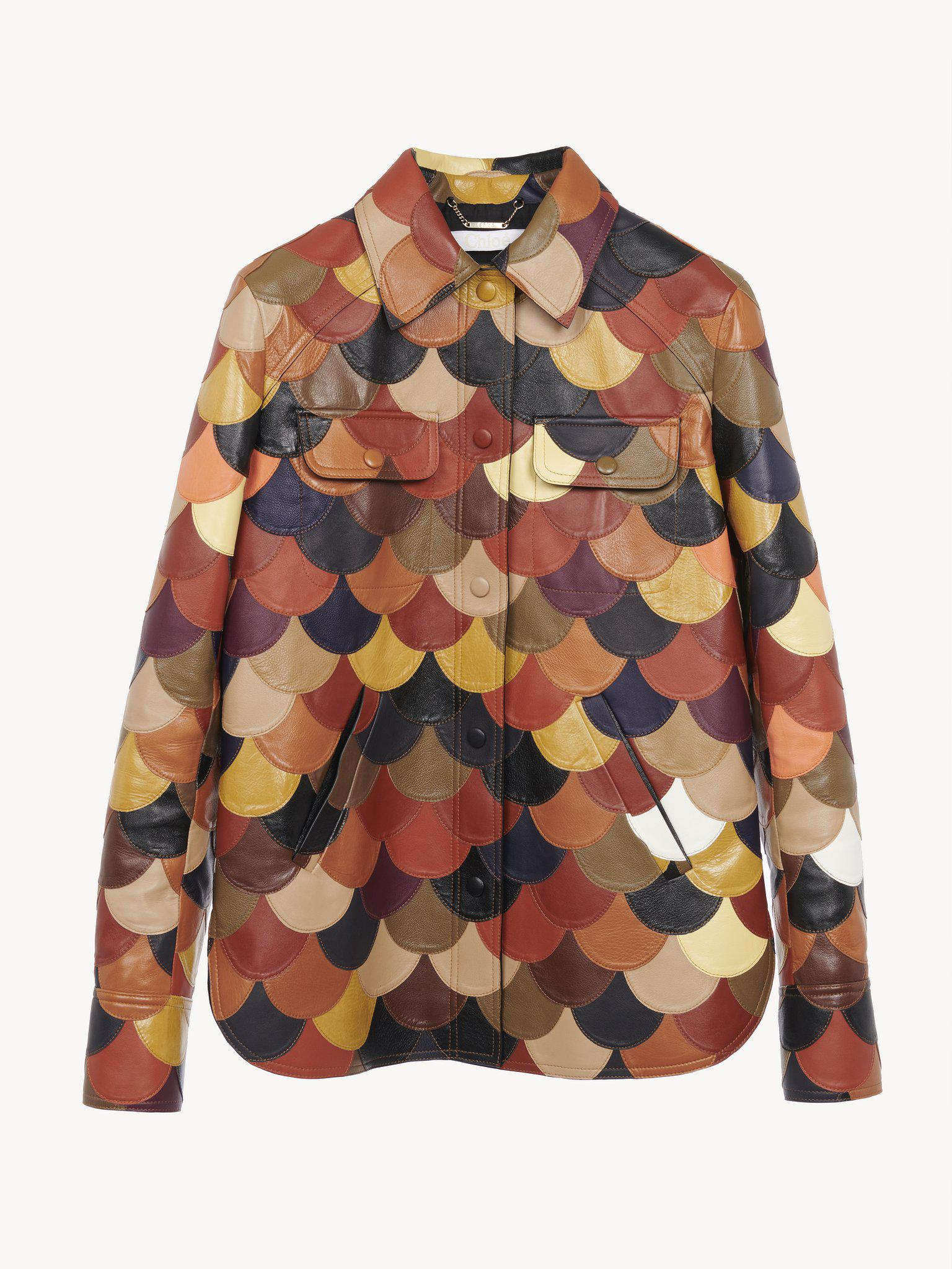 MULTICOLORED PATCHWORK LEATHER JACKET