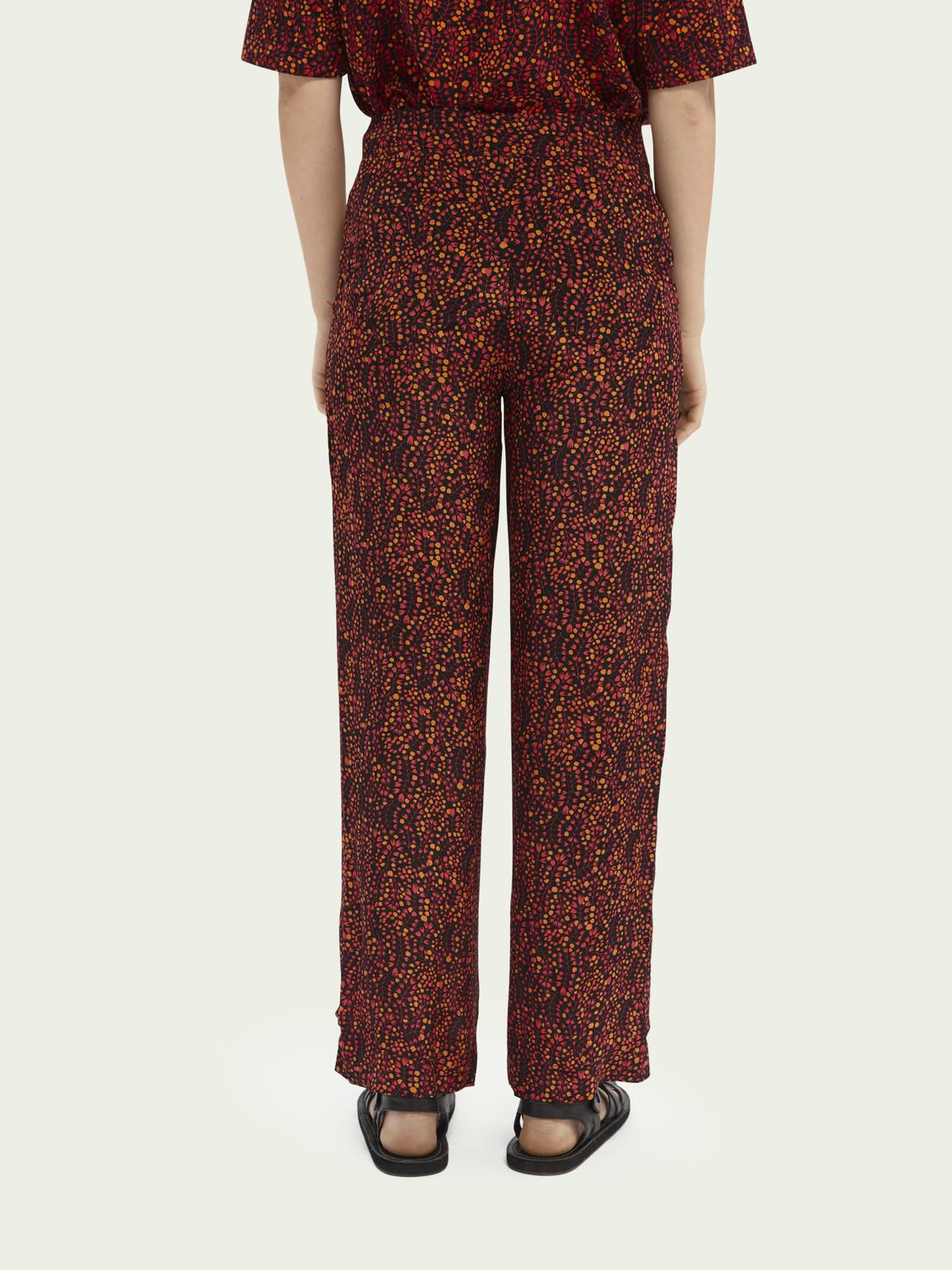 Printed mid-rise trousers 2