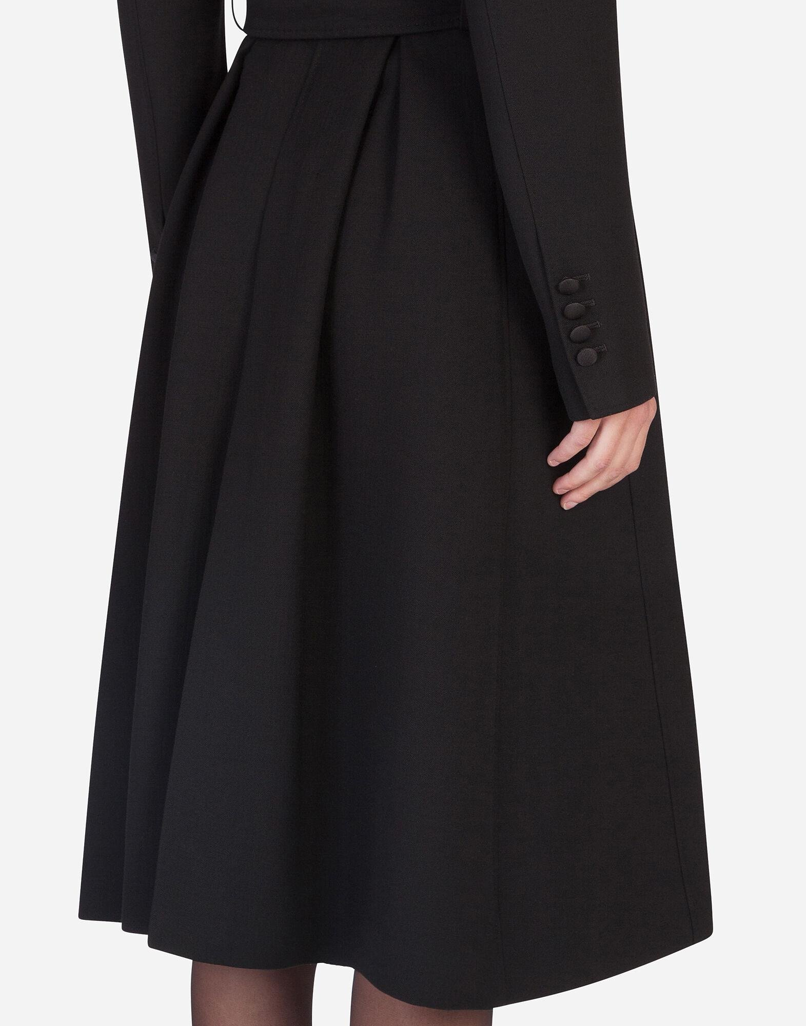Belted double-breasted crepe coat 2