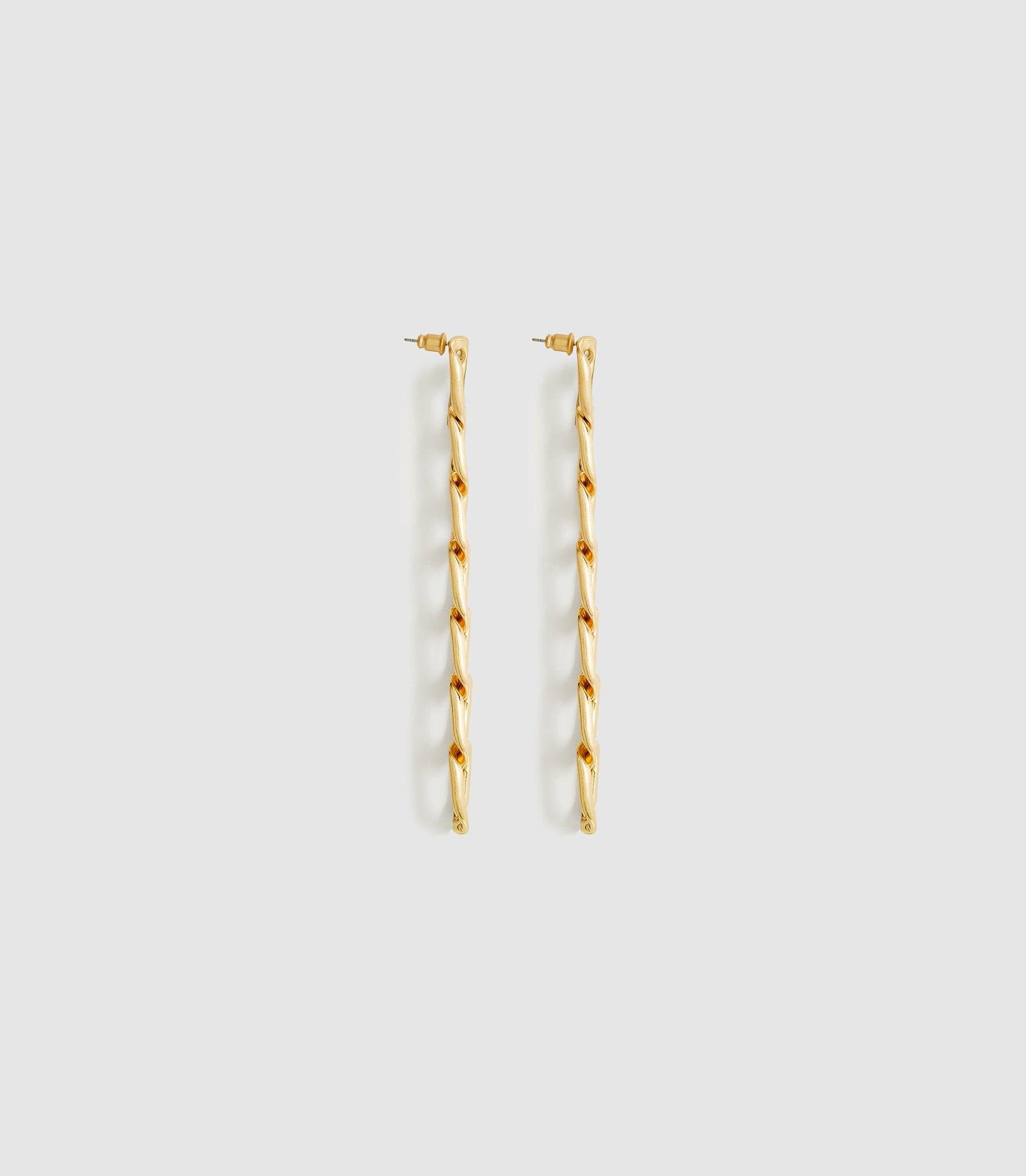 LEXI - BRUSHED PLATED GOLD EARRINGS 1