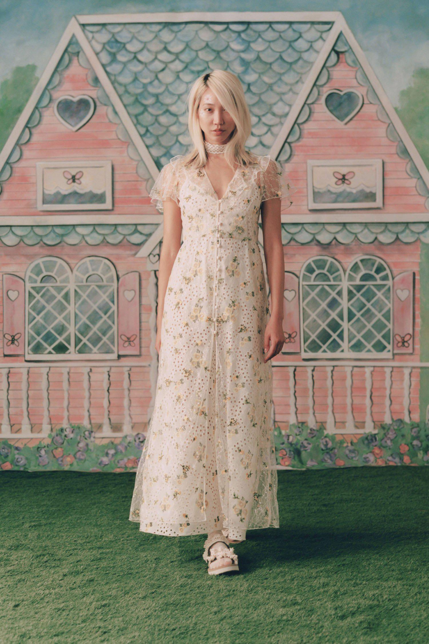 Scattered Blooms Lace Cover Up 1