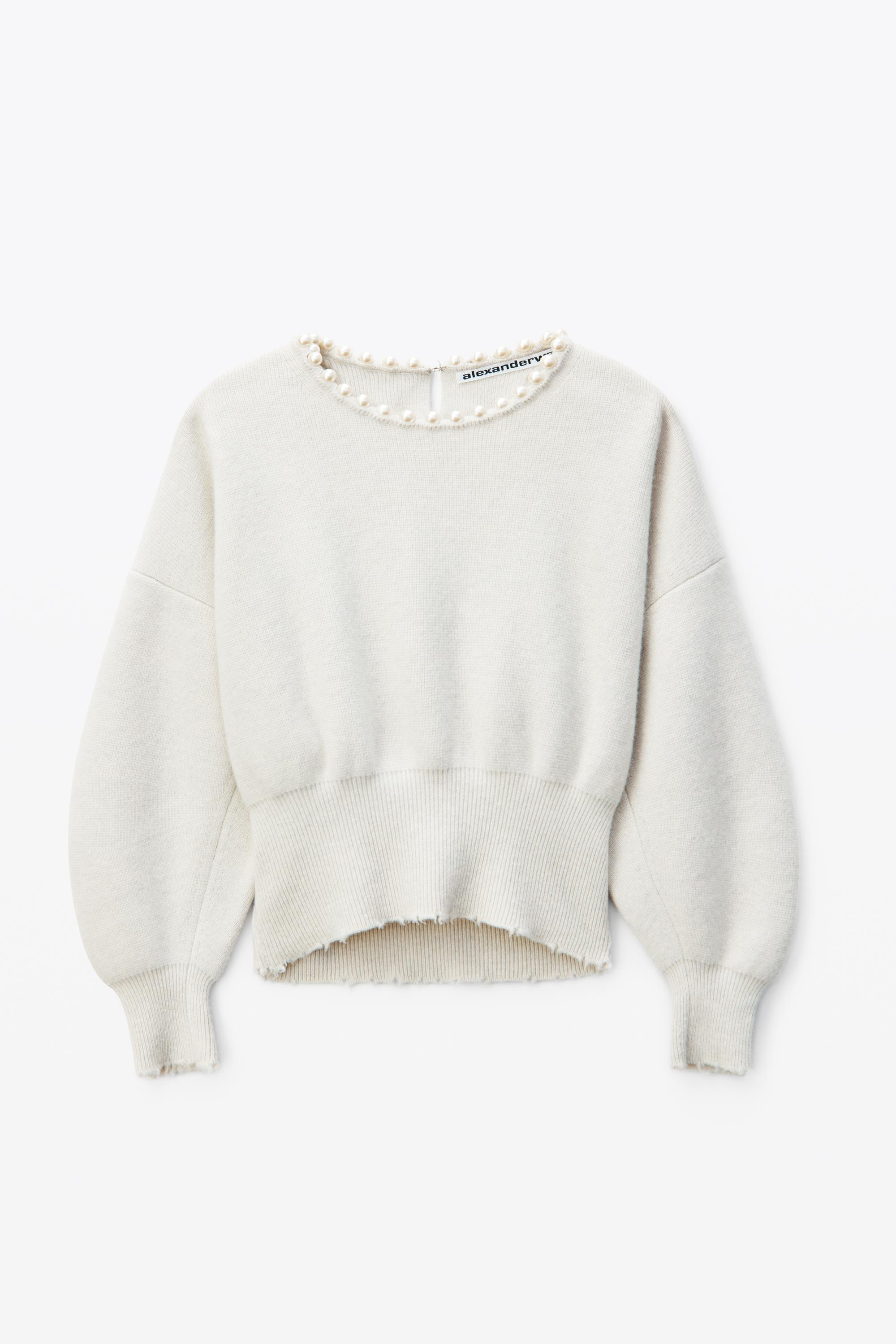 pearl necklace pullover 1