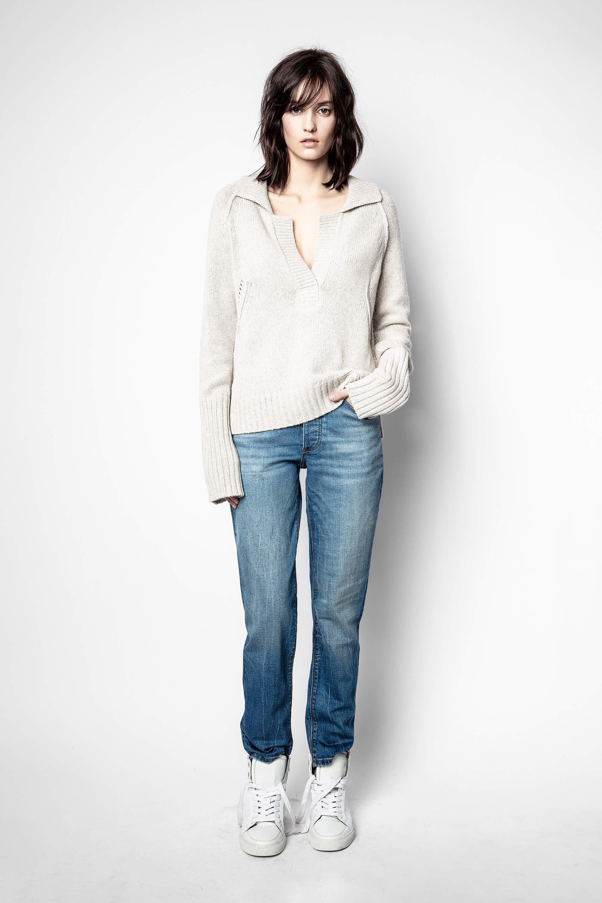 Berry Recycled Cashmere Sweater