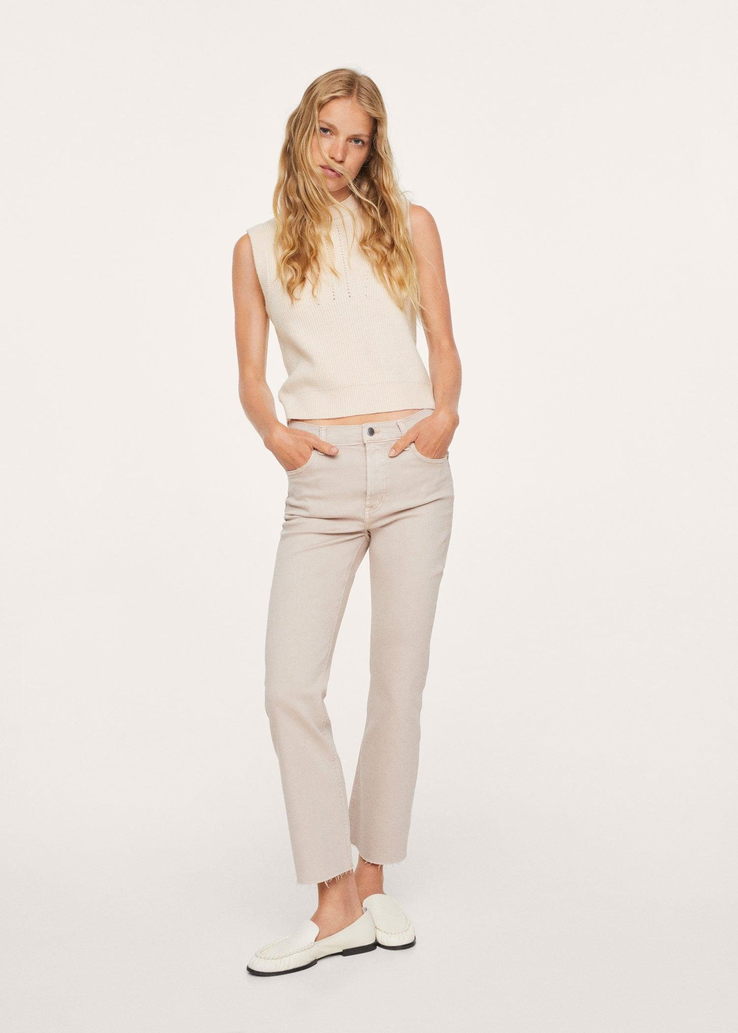 Crop flared jeans 1