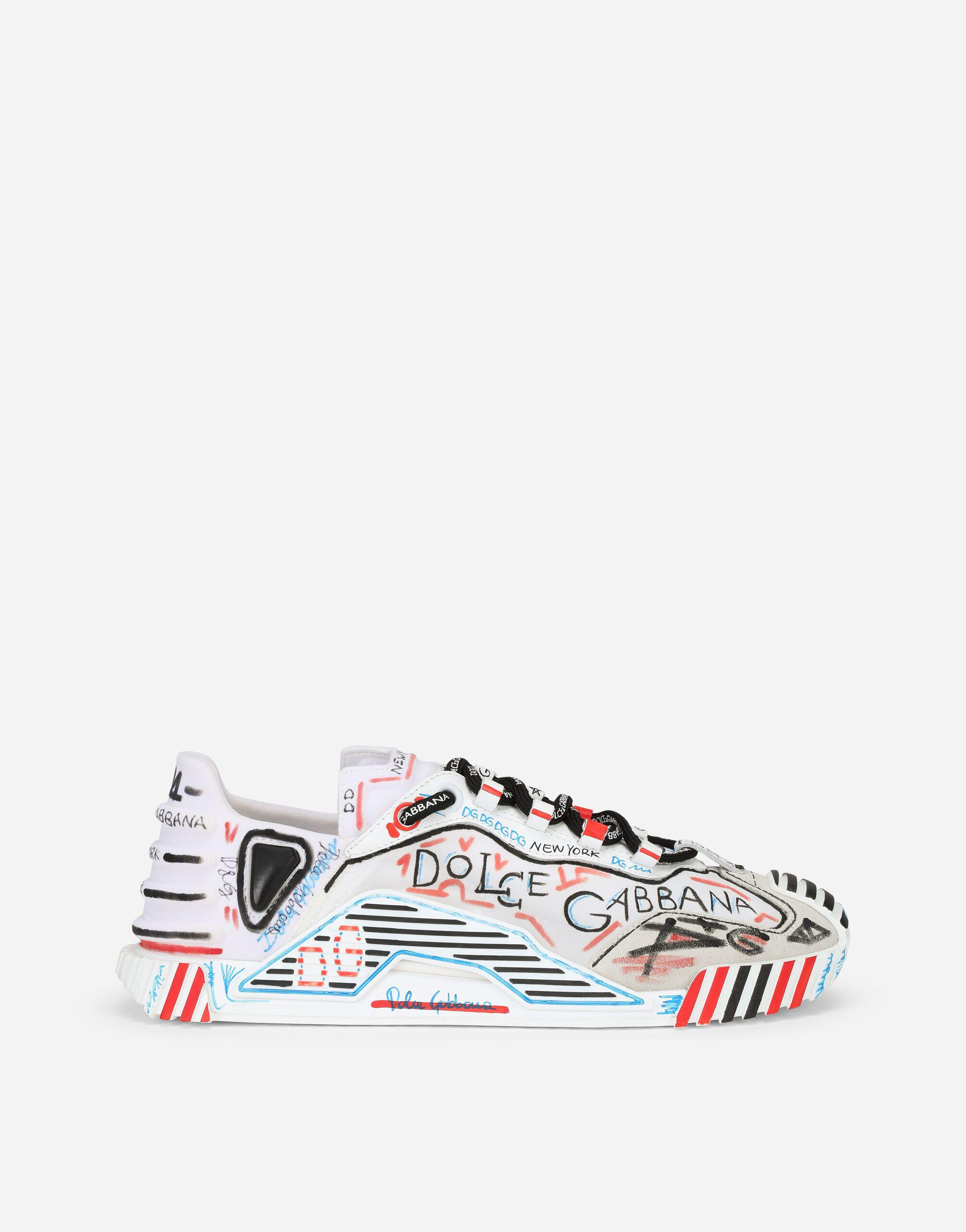 Mixed-materials New York NS1 slip-on sneakers