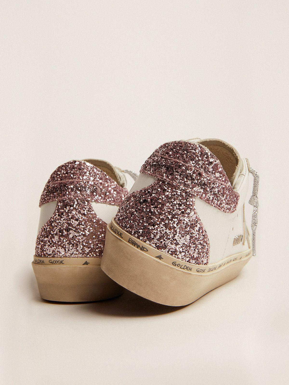 Hi Star sneakers with silver laminated leather star and quartz-pink glitter heel tab 4