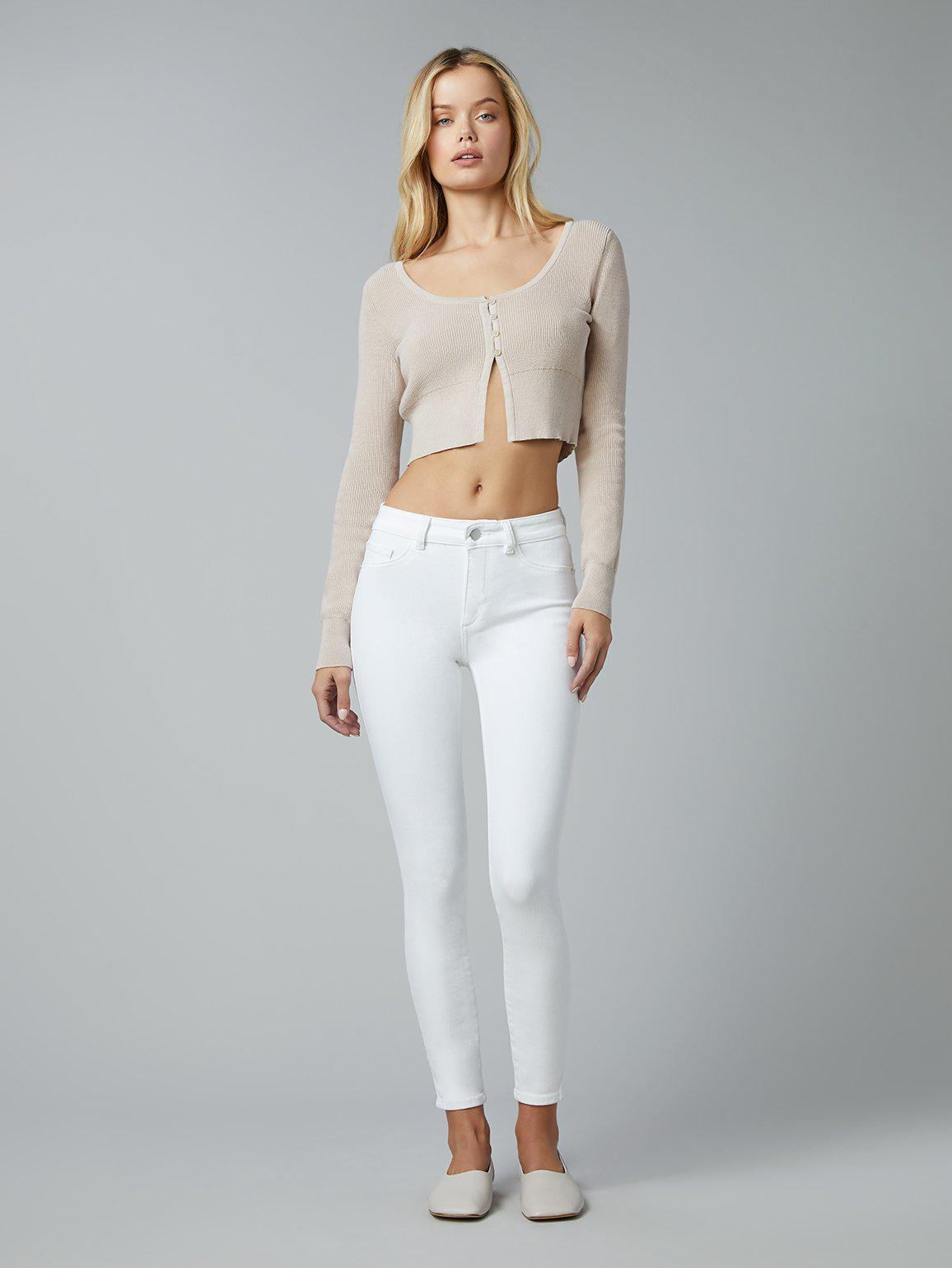 Florence Skinny Mid Rise Instasculpt Ankle | Milk