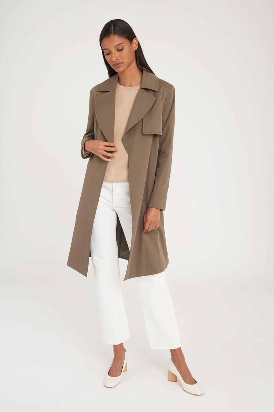 Women's Classic Trench in Olive | Size: 1