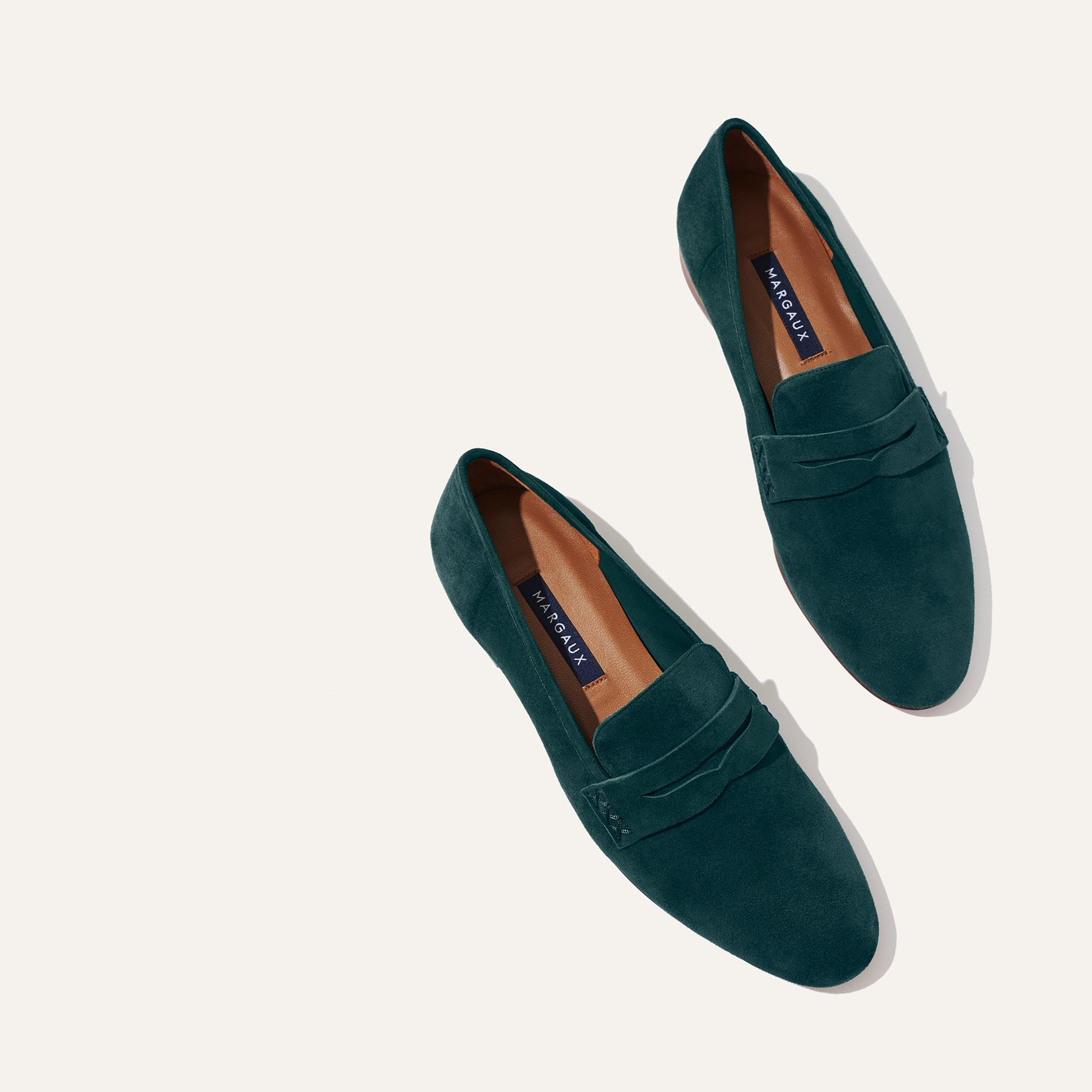 The Penny - Emerald Suede
