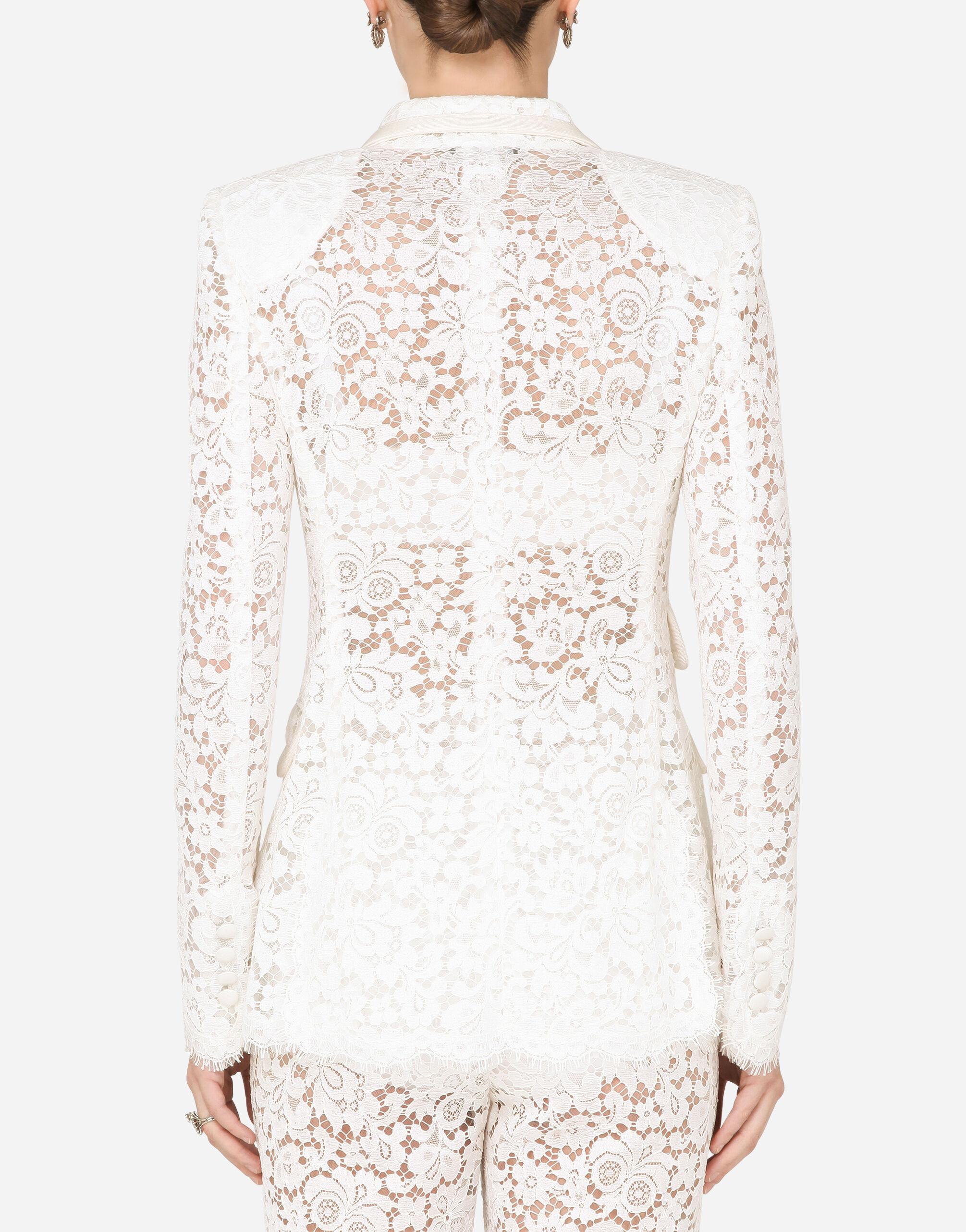 Lace jacket with edge detailing 1