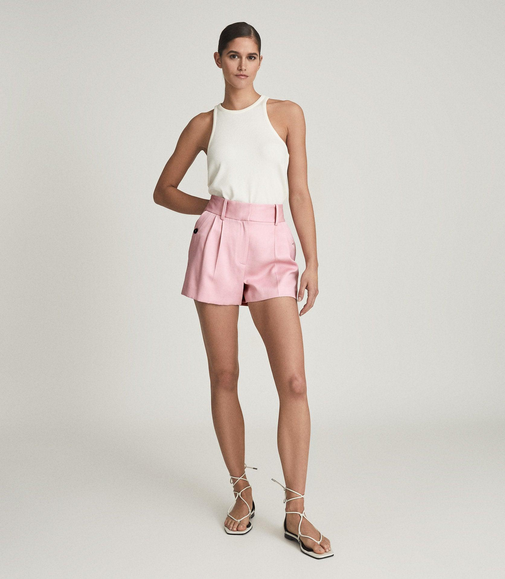 EMBER - TAILORED PLEAT FRONT SHORTS 4