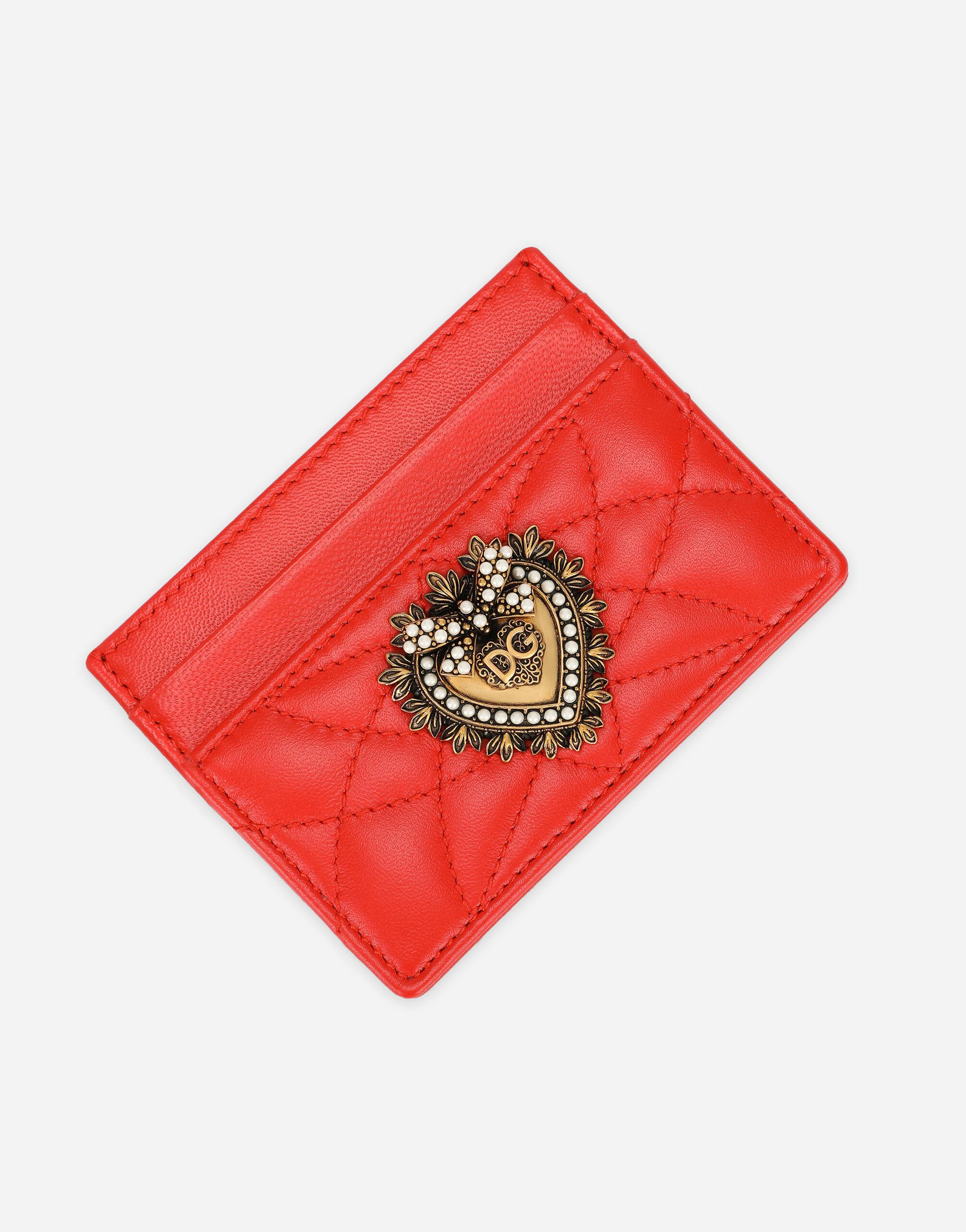 Devotion card holder in quilted nappa leather 3