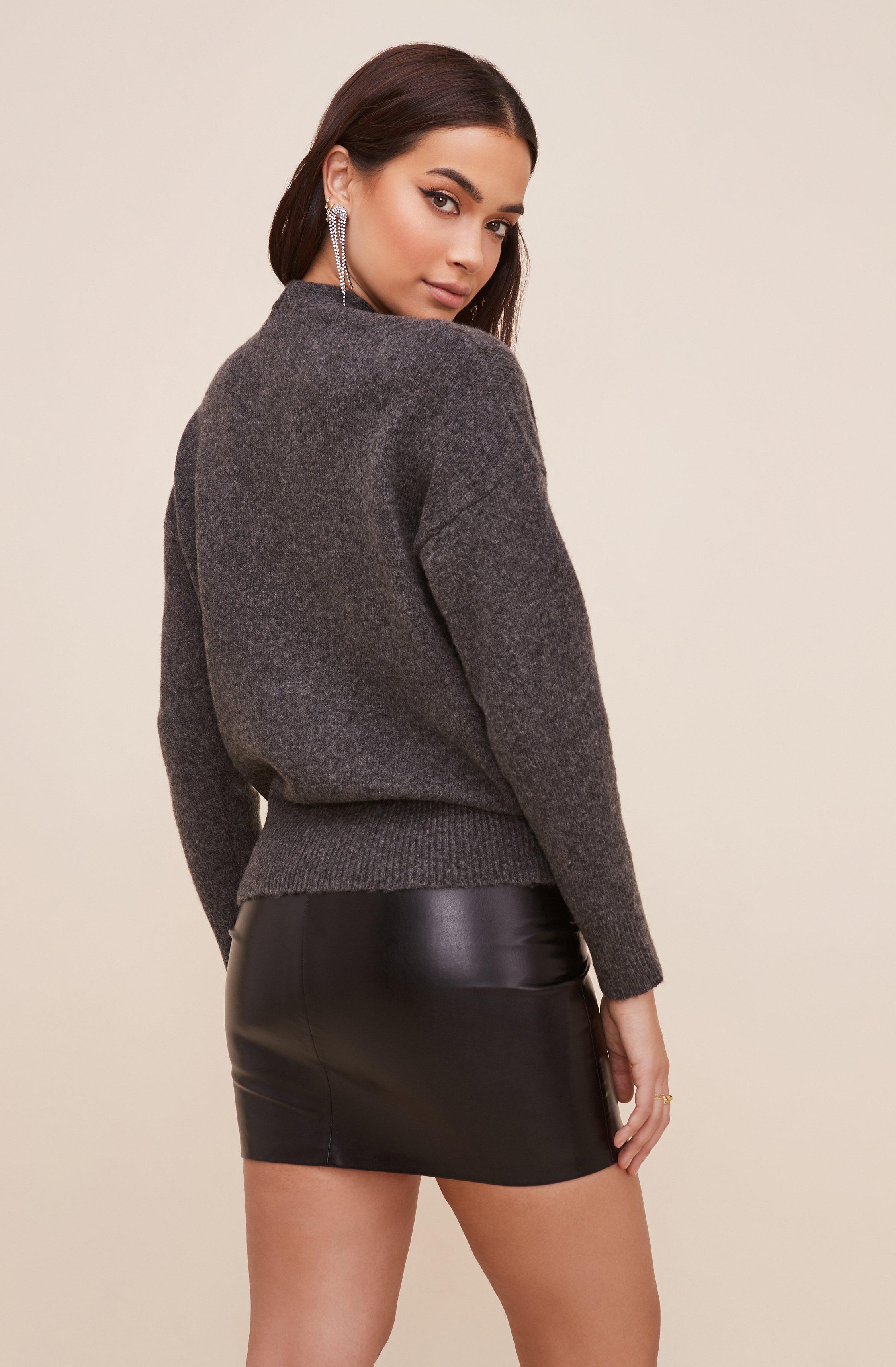 Pleated Wrap Sweater 4