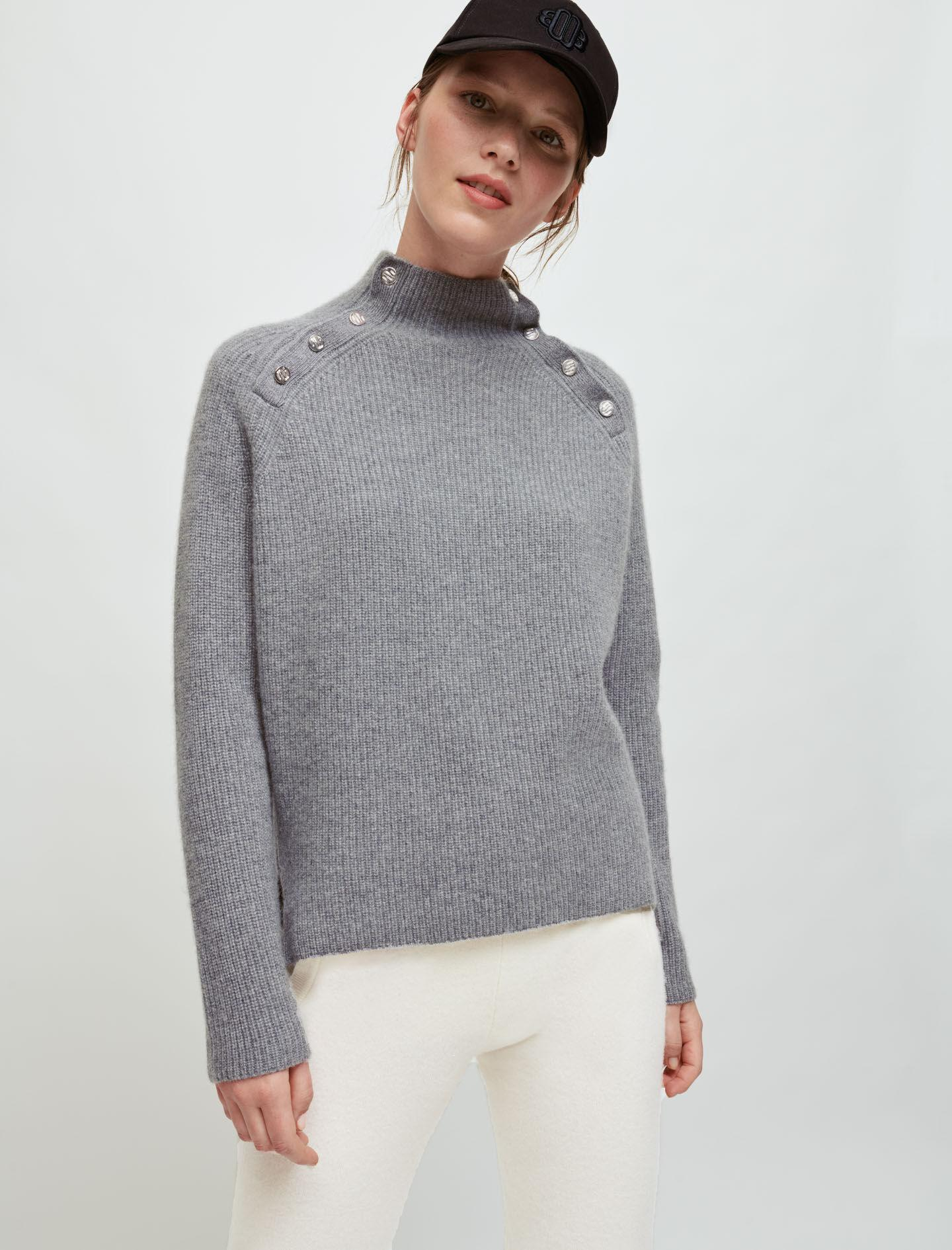 100% CASHMERE SWEATER WITH COLLAR