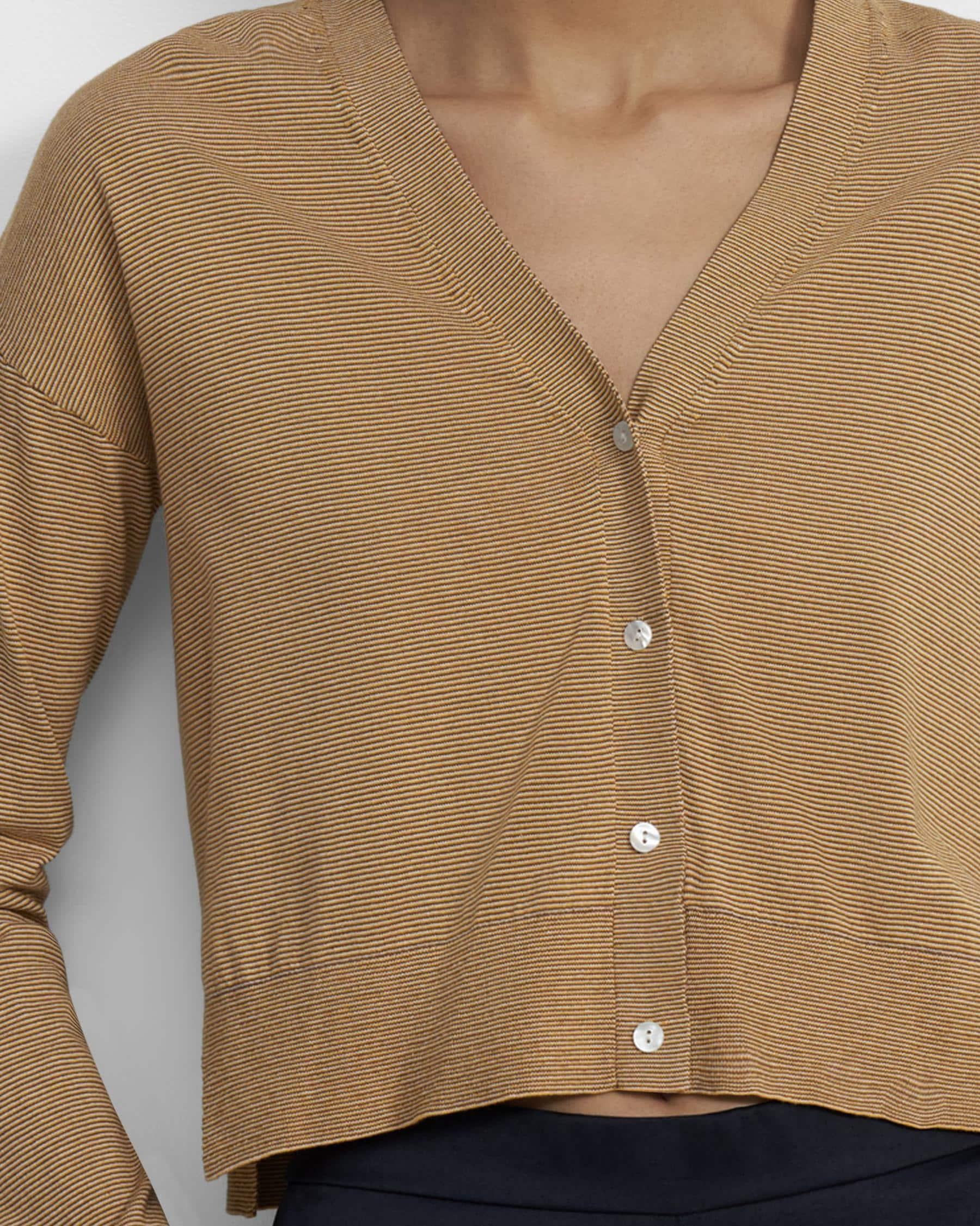 Cropped Cardigan in Cotton 1