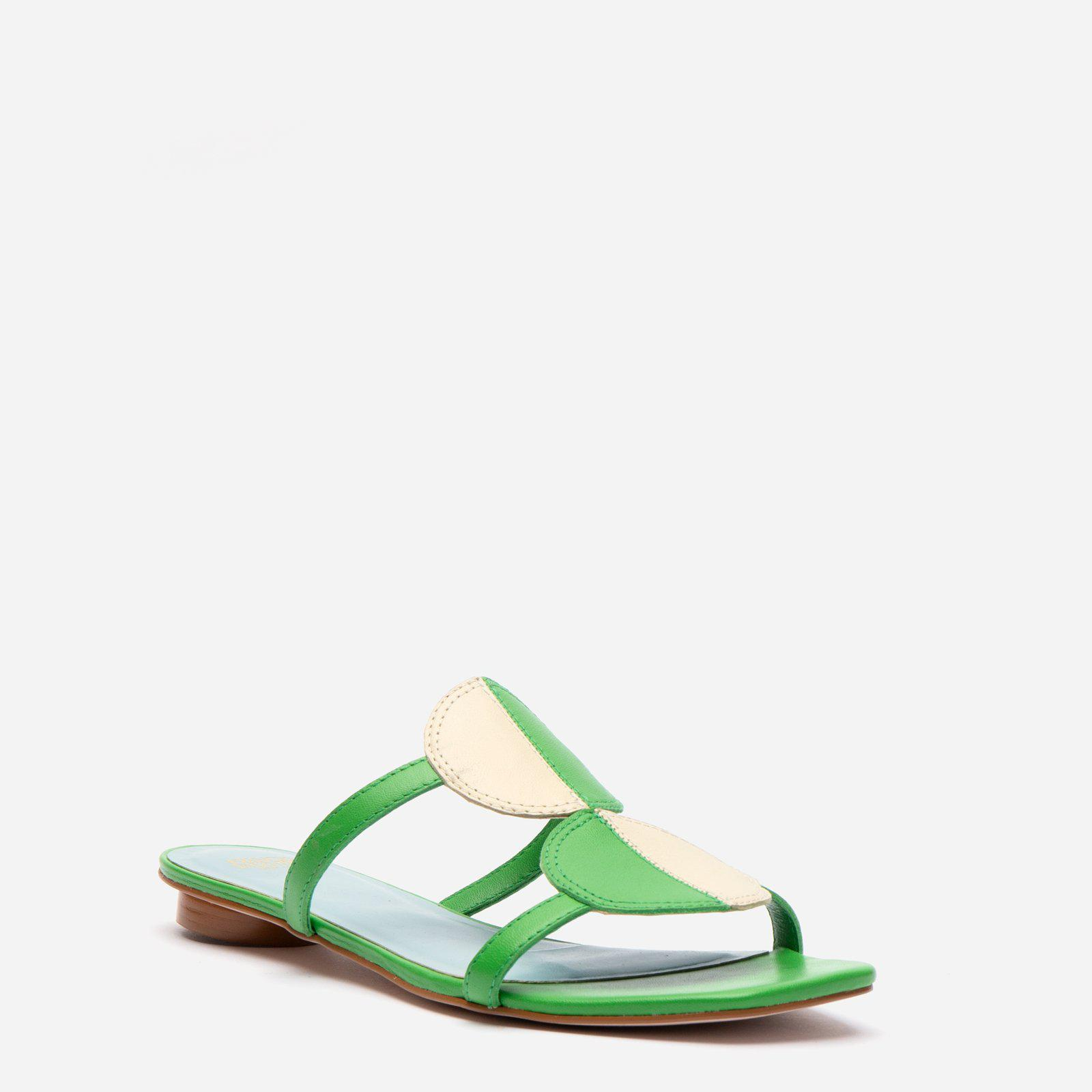 Double Circle Slide Colorblock Green Oyster 2