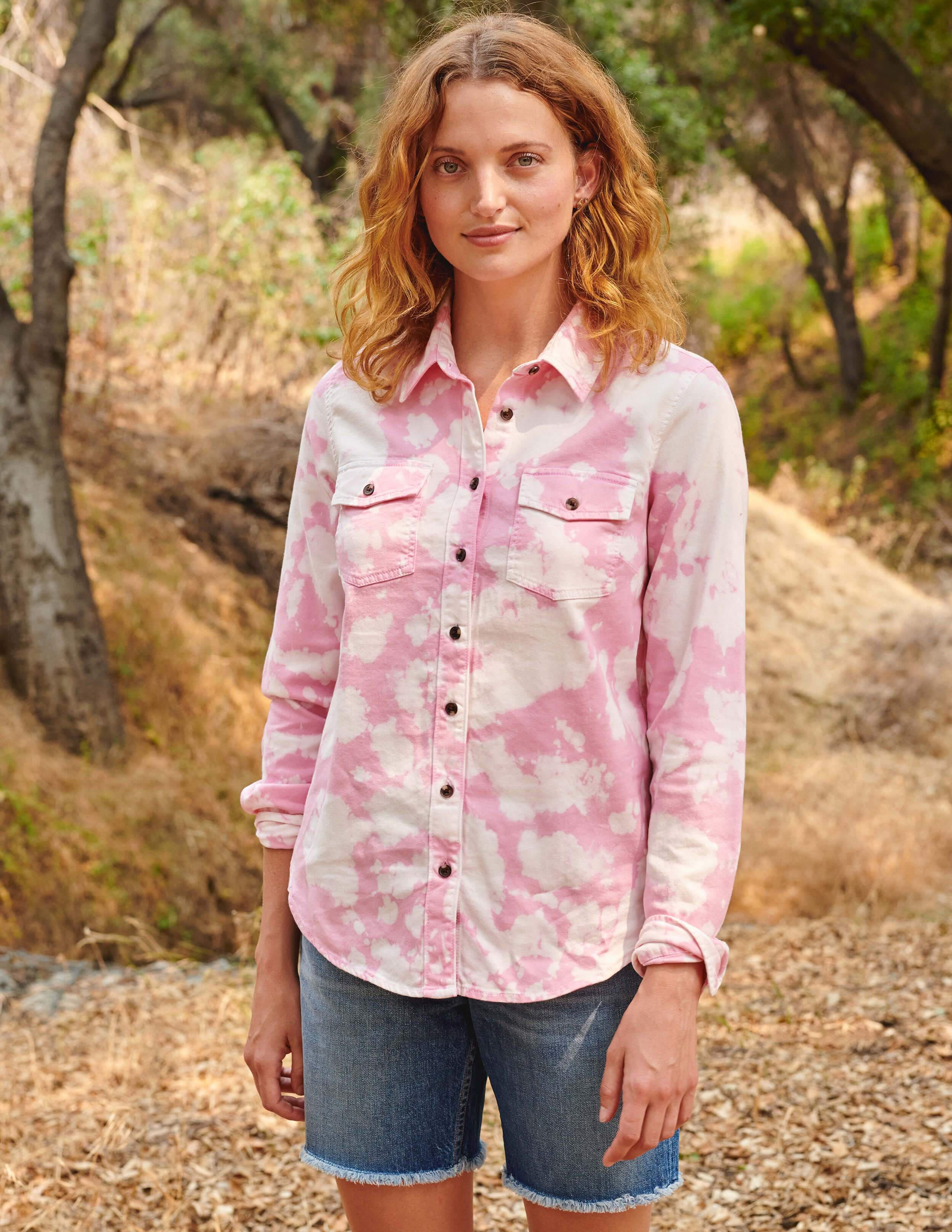 Tie Dye Classic Button-Up