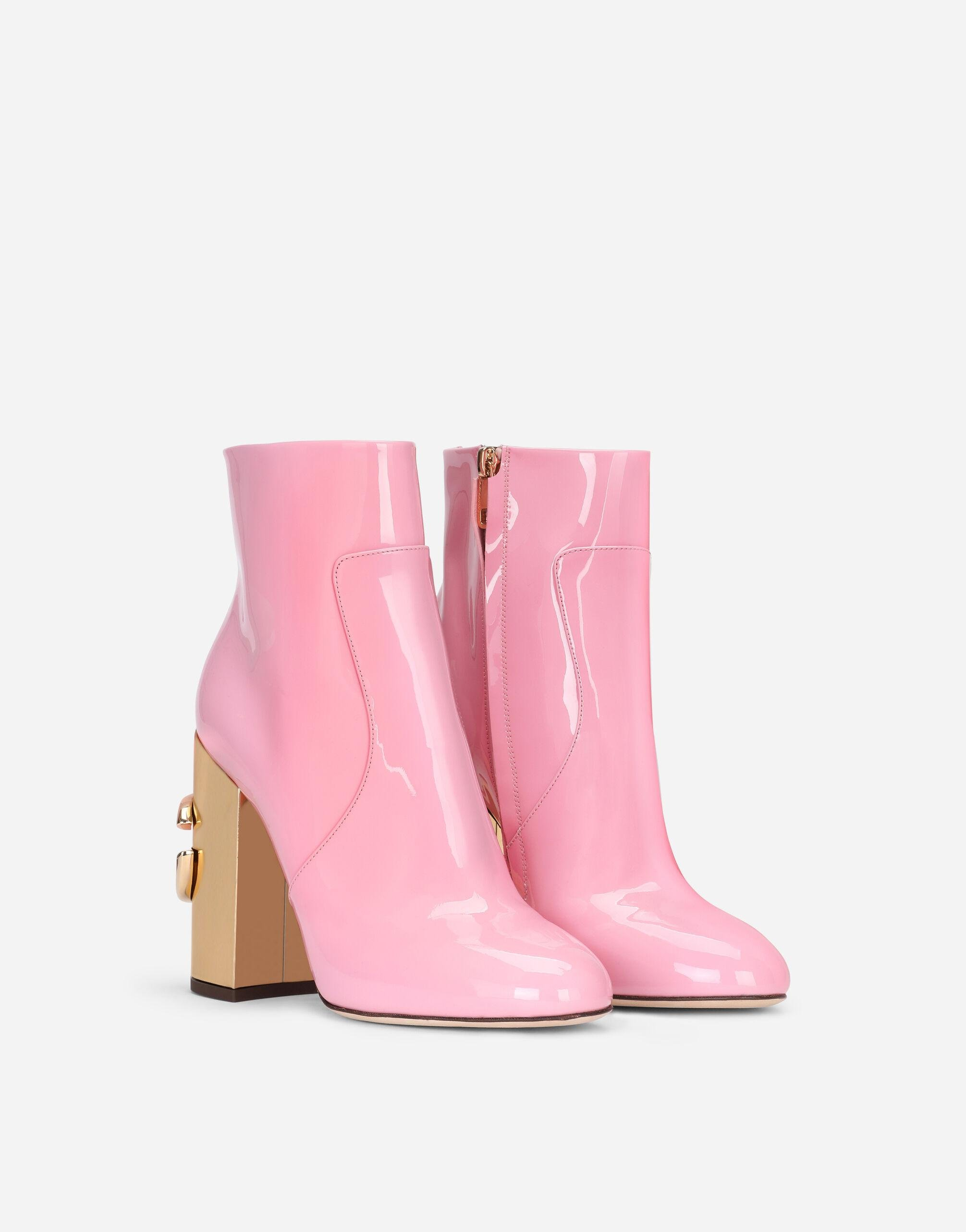 Patent leather ankle boots with DG Karol heel 1